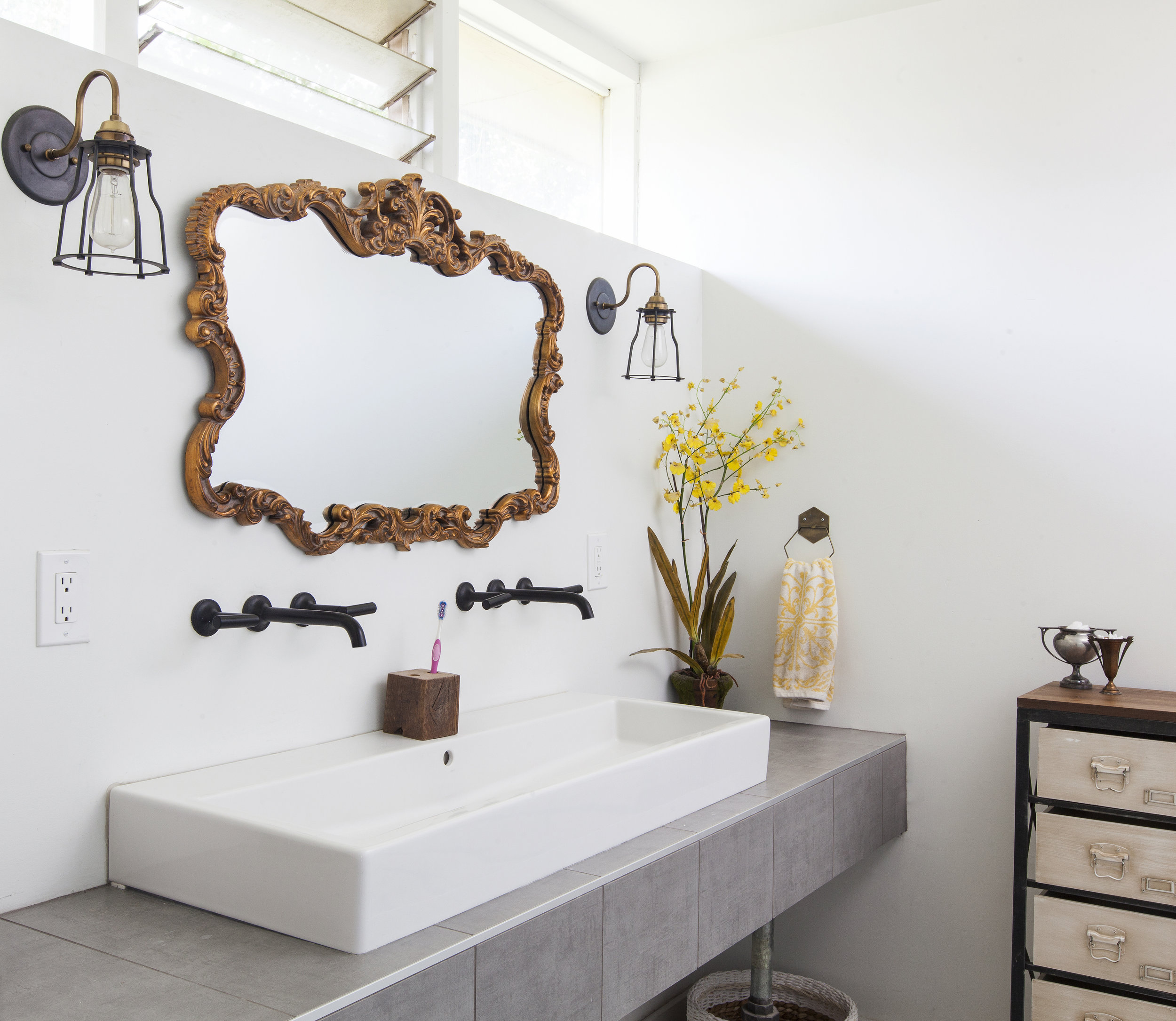 Minimal, chic Jason Wu for Brizo faucets and a sleek, double wide sink in my master bathroom