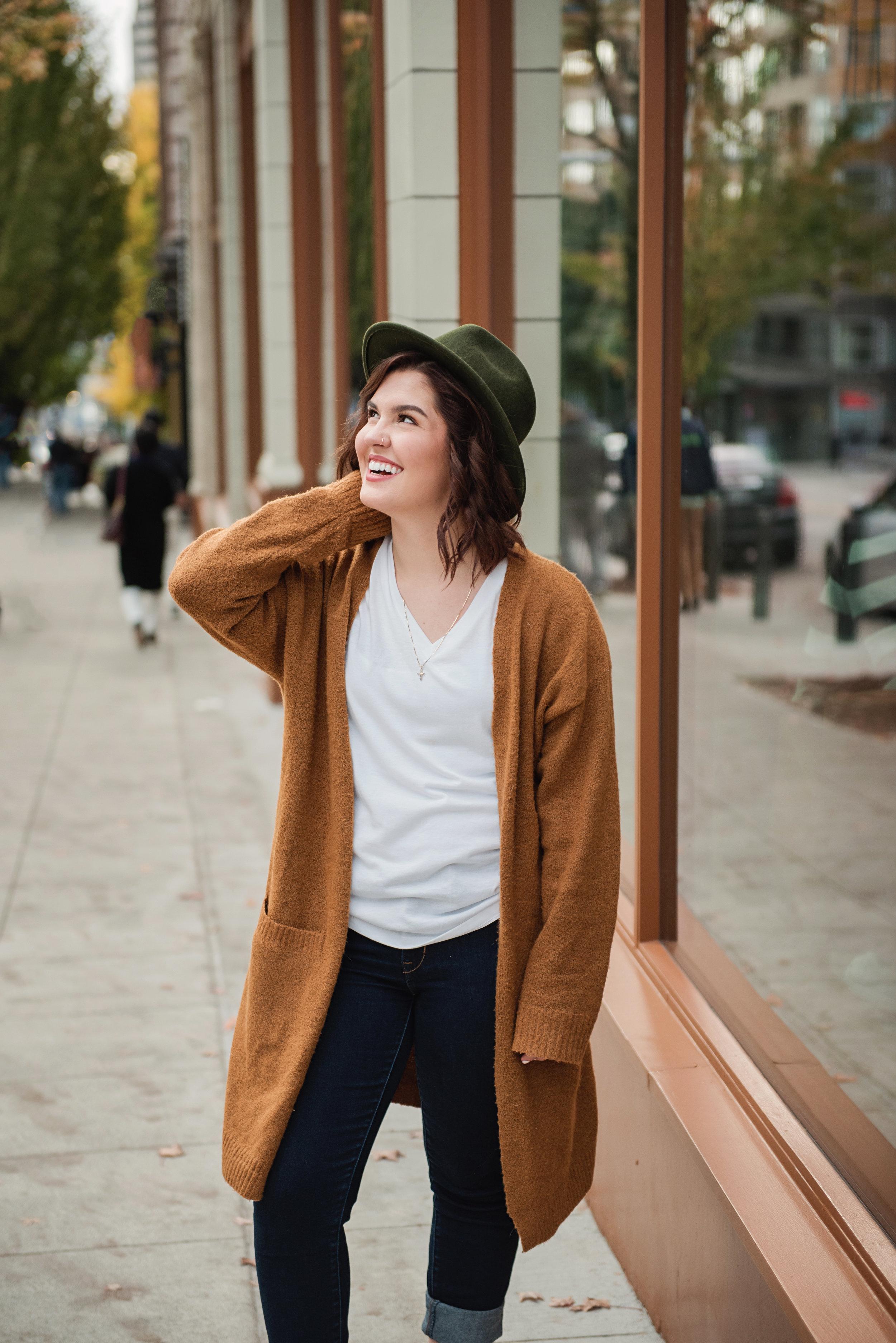 Mary Vance Photography Senior Girl Sammamish Washington  Seattle Hat Fall