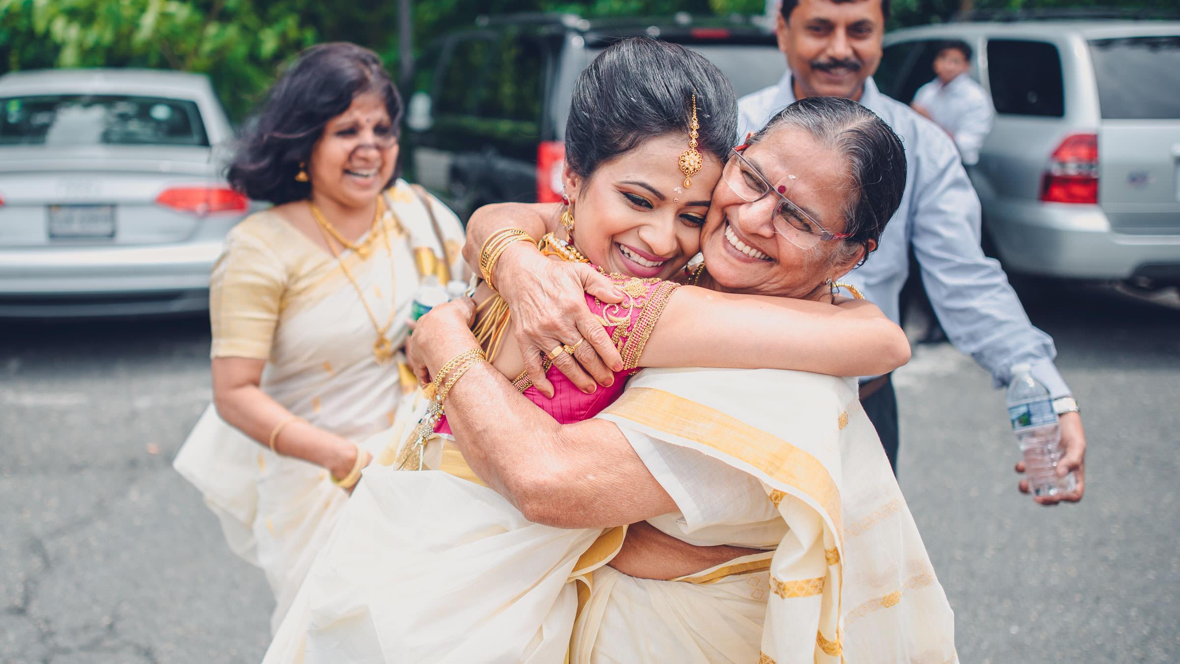 Saving the biggest hugs for Grandma