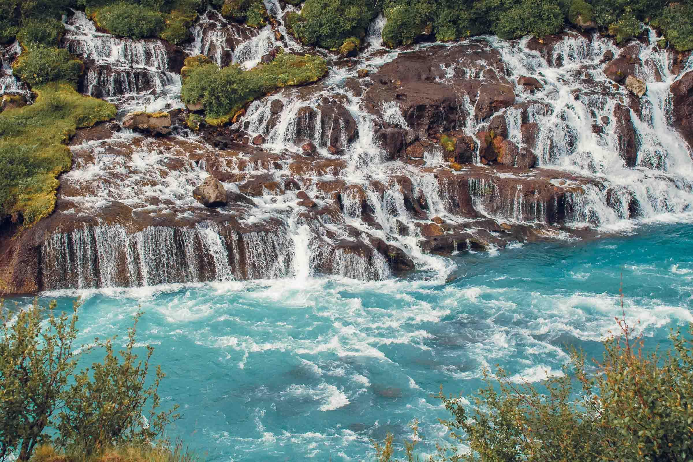 The Bluest Waterfall in Iceland Bruarfoss
