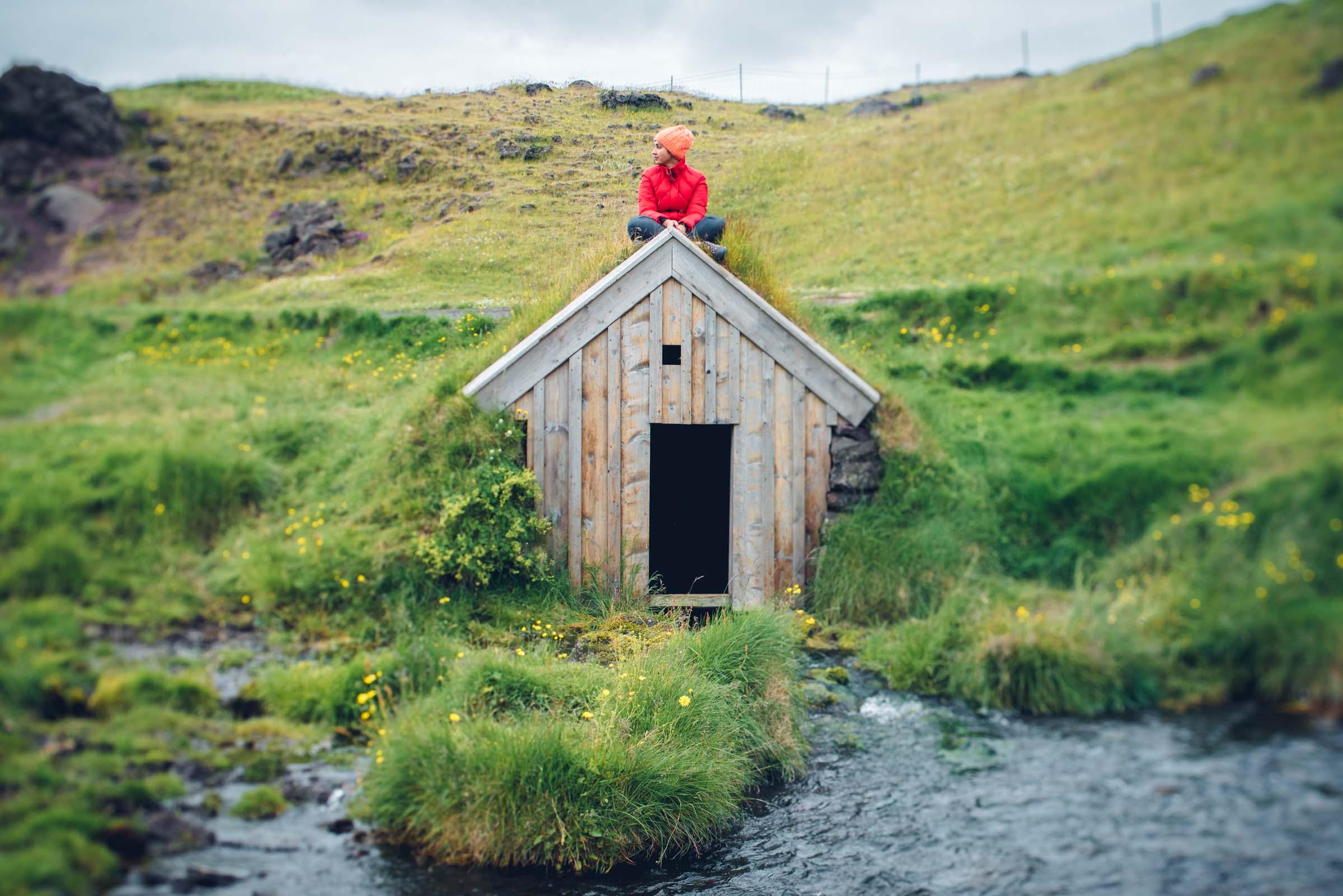 Keldur Turf House in South-Iceland