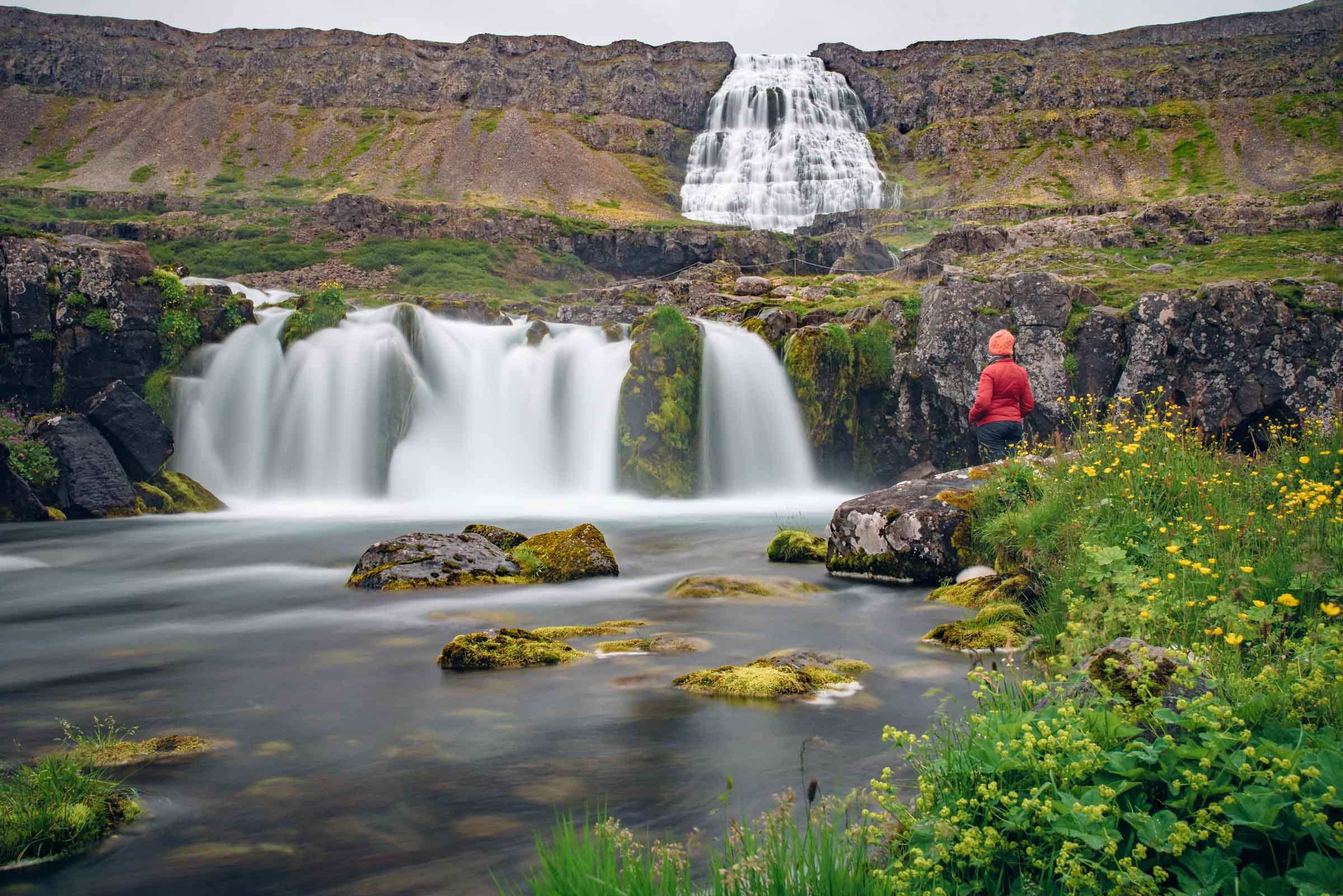 The Magnificent Dynjandi Waterfall. West Fjords