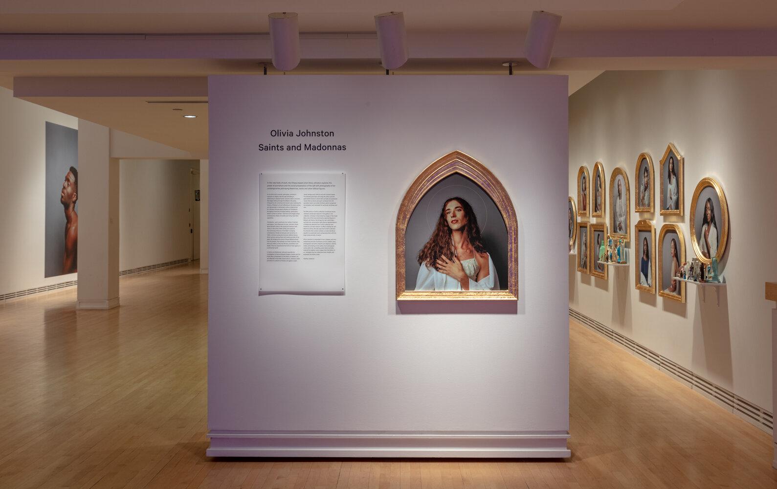 Olivia Johnston Saints and Madonnas title wall 2.jpg