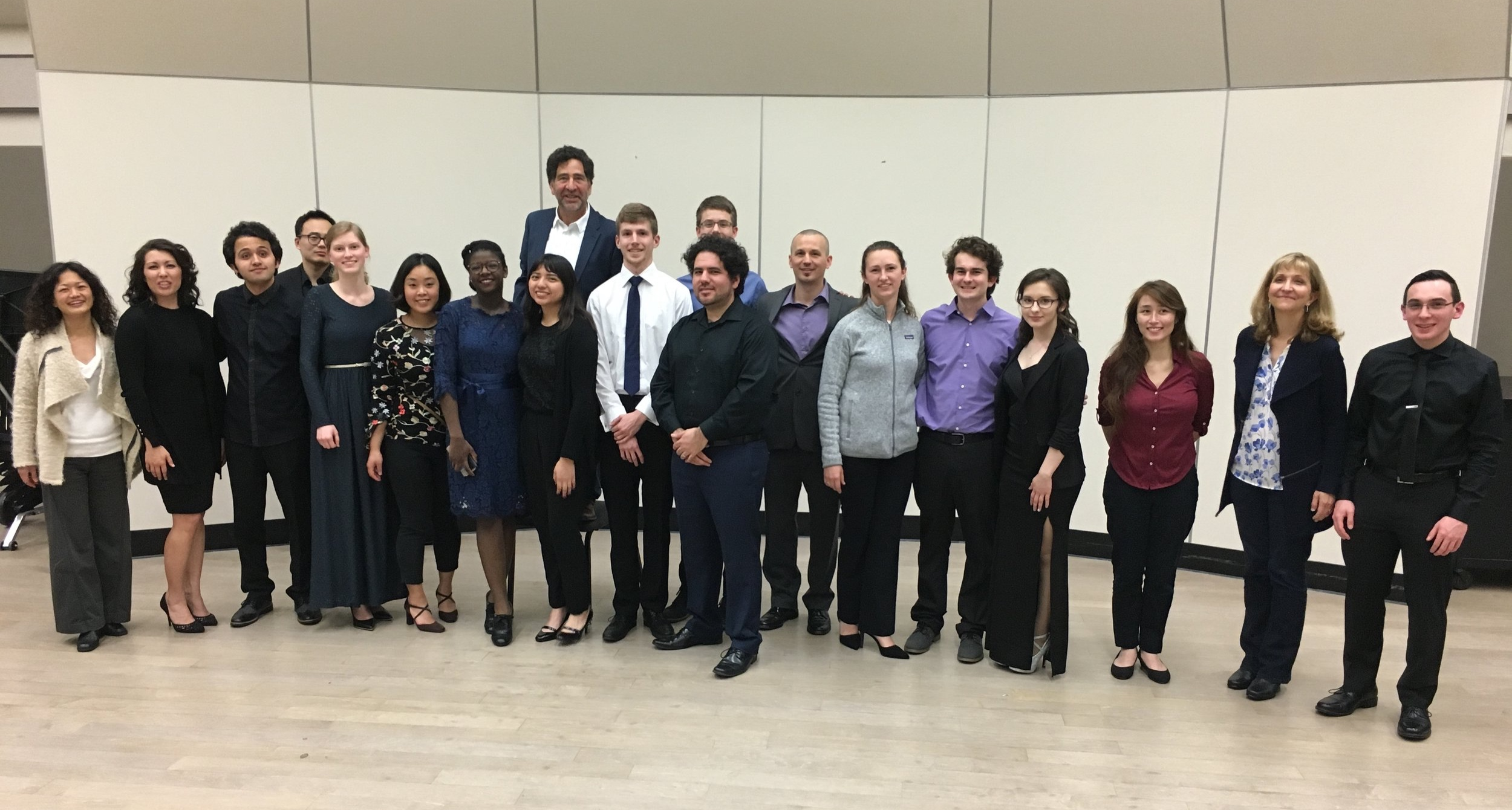 Participating musicians in the 2019 Watson Family Chamber Music Competion, Sac State University
