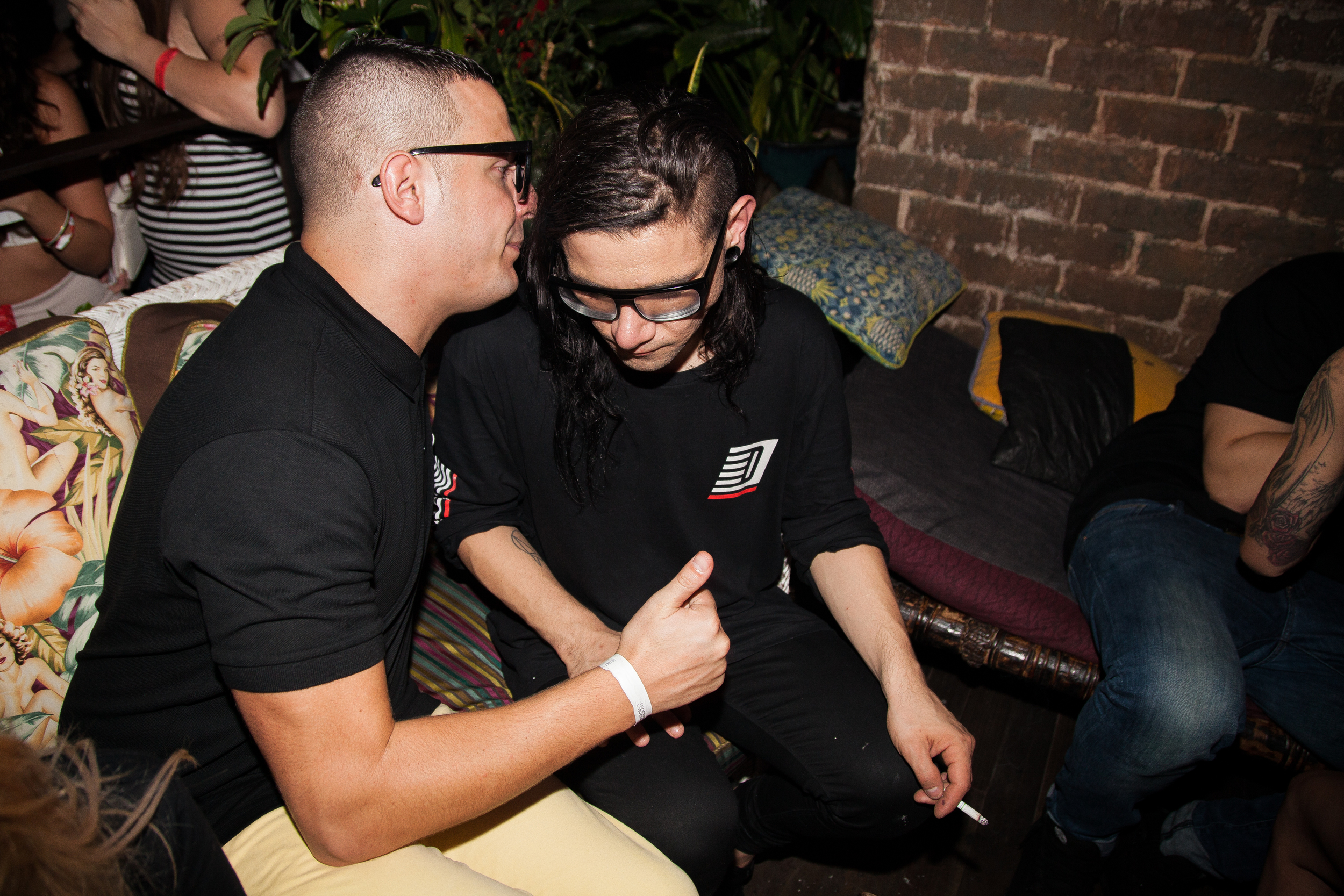 04.12.2014  Industry secrets last night between DJ Snake & Skrillex in Kings Cross.