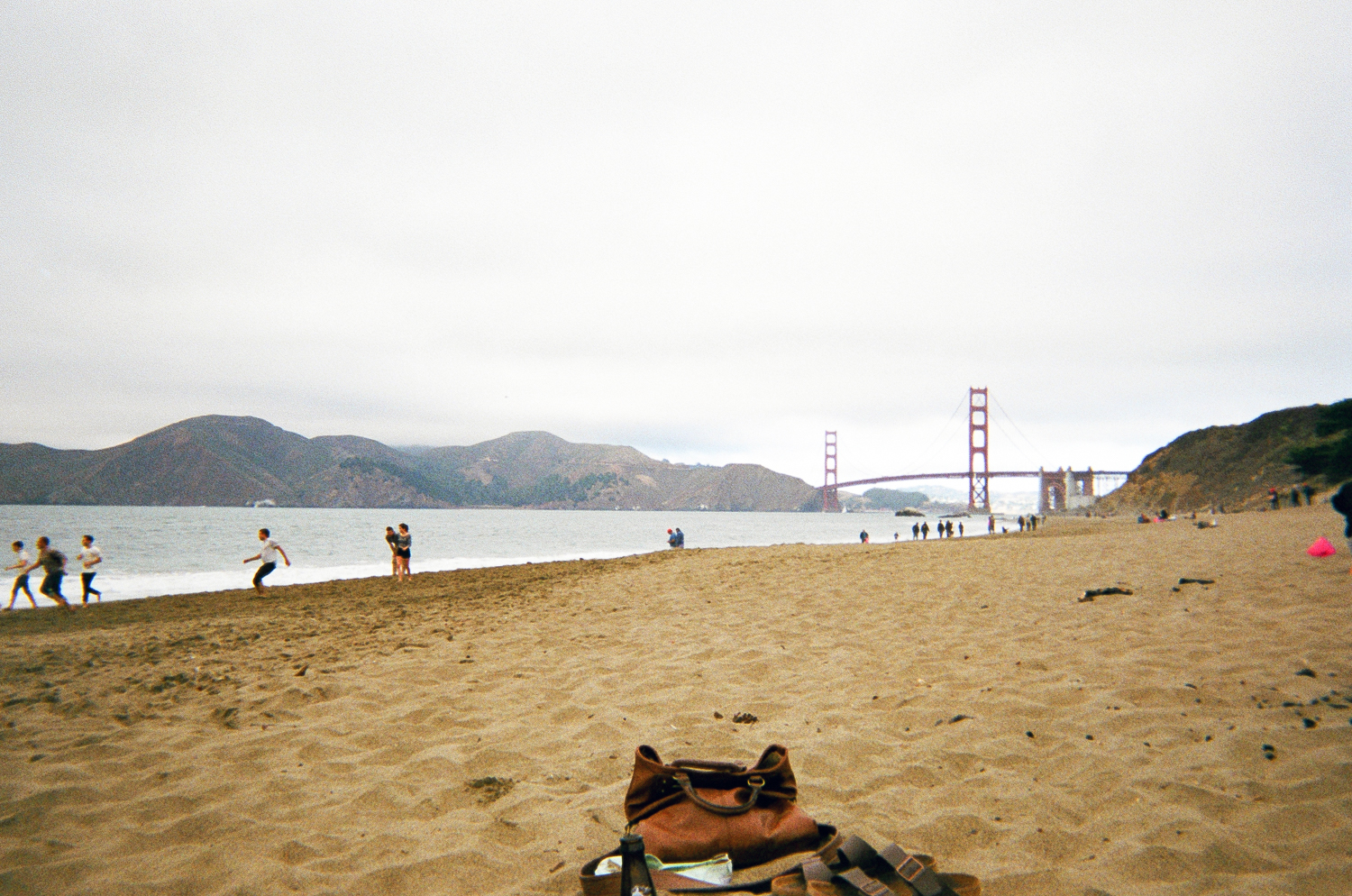 28.12.2014  More old dispos developed.  Baker Beach, San Francisco in September.