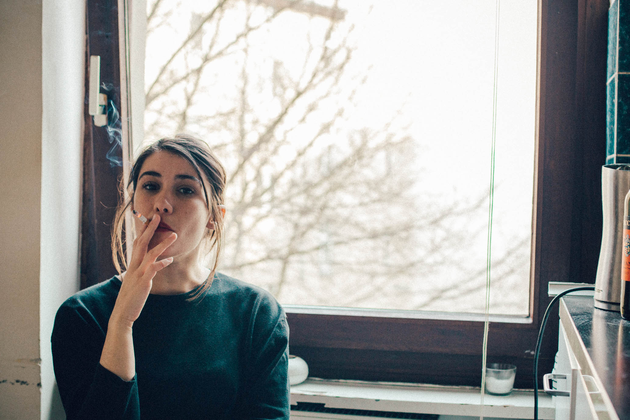 24.03.2015  Portrait of Georgie at her new place in Berlin.