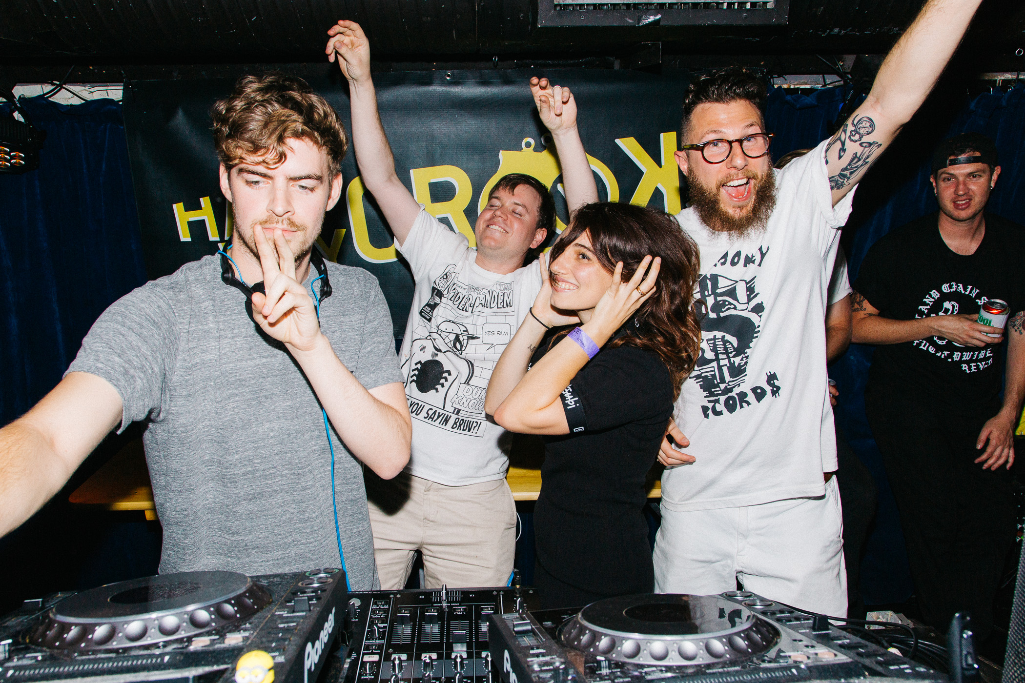 04.10.2015  Crooks last night at Good God, with ~~~secret guests~~~ Ryan Hemsworth & Nina Las Vegas.