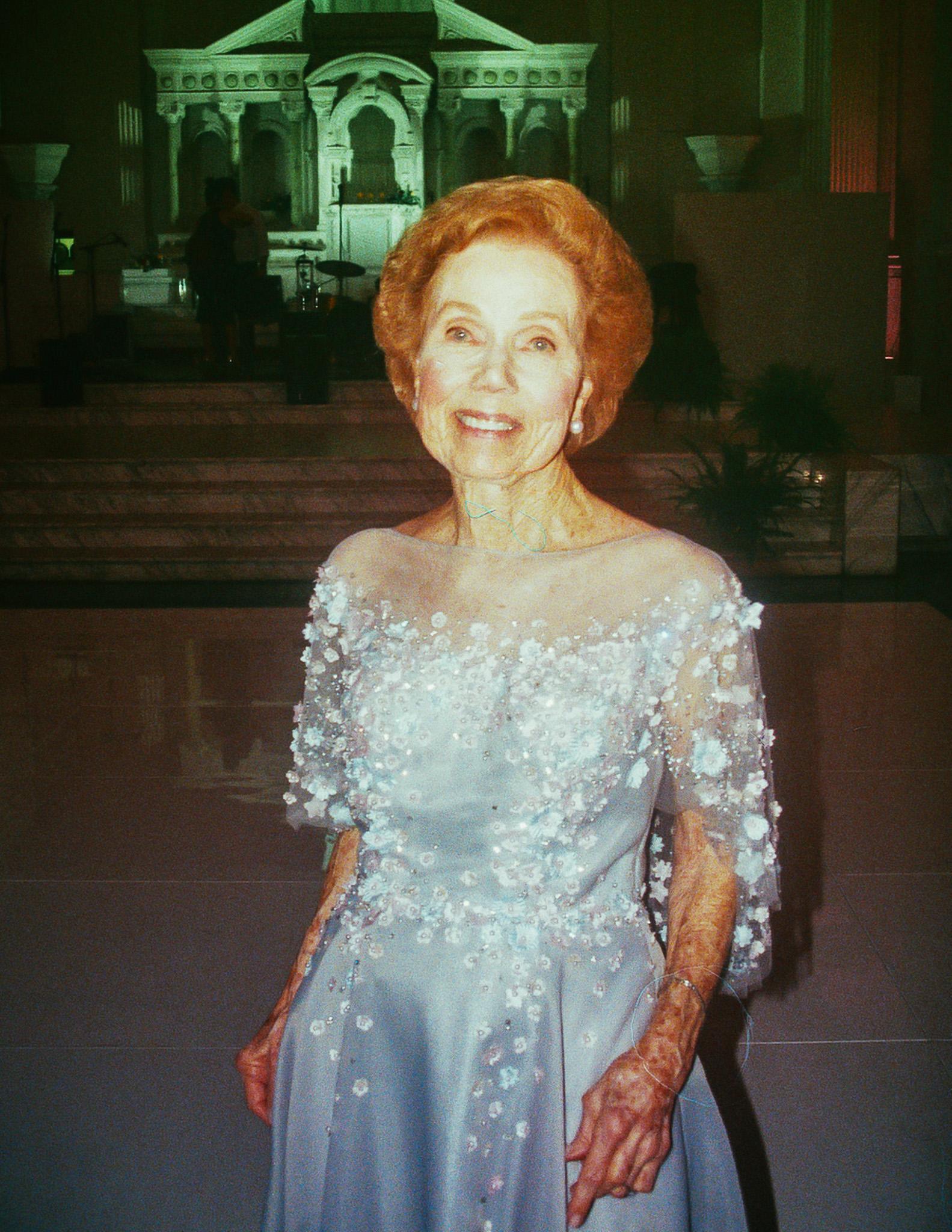 20.06.2018  Steven's Grandmother at the wedding. Best dressed winner.