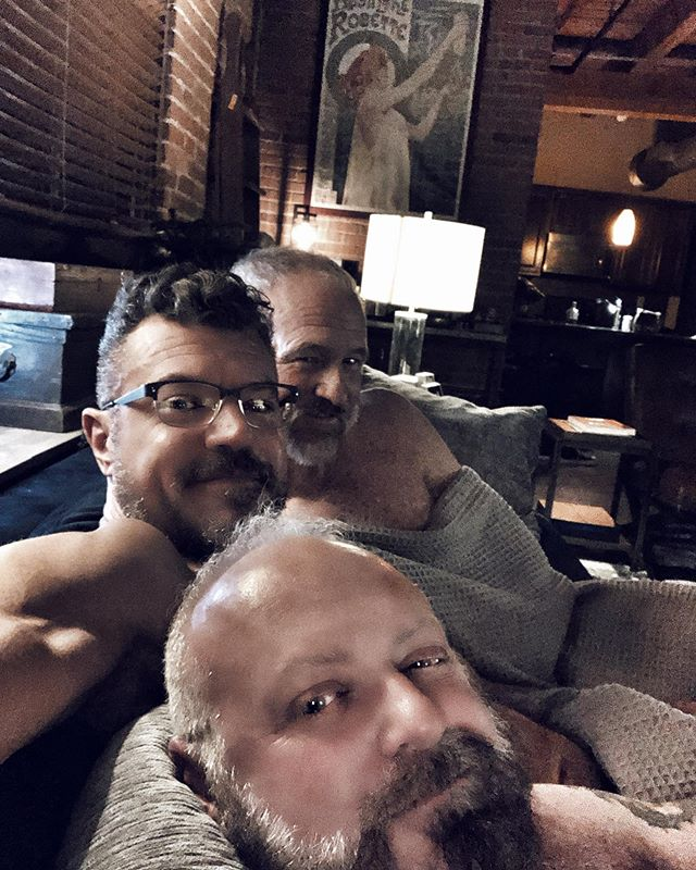 Hump day date night with the boys at the loft. A little balcony time for sunset, sushi for dinner, and an episode of 'The Boys', to keep the theme going. #daddiesaf #loftlife #couchpotatostatus #bourbon