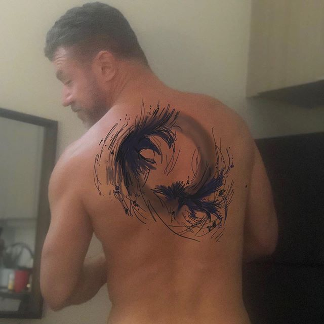It's #inktober so why not use this month To get serious about my first tattoo. Odin's two ravens, Hugin and Munin, also known as Thought and Memory, over a corona symbolizing the ouroboros.  Now to find the right artist.