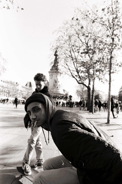 Skater at Place de la Republique