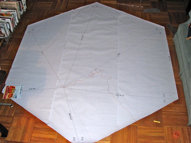 The receiving of these full scale templates made me fully realize the  scale  of the entire constellation!