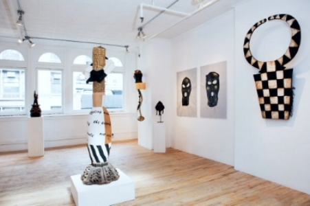 """The sculpture in situ for the show """"Iconomania"""" at Merton Simpson Gallery, NYC."""