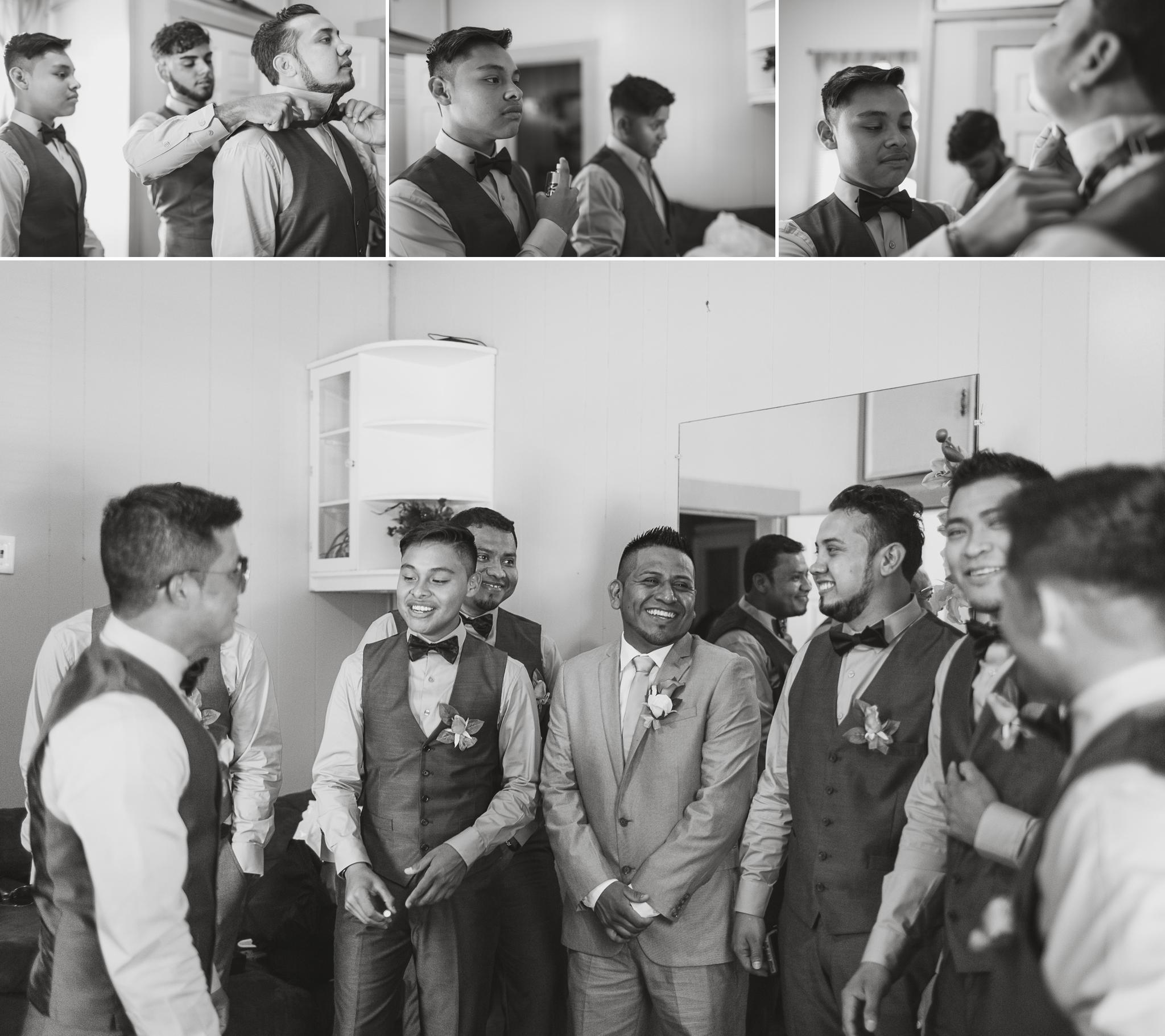 Groomsmen Getting ready St Pauls North Carolina Wedding Photography