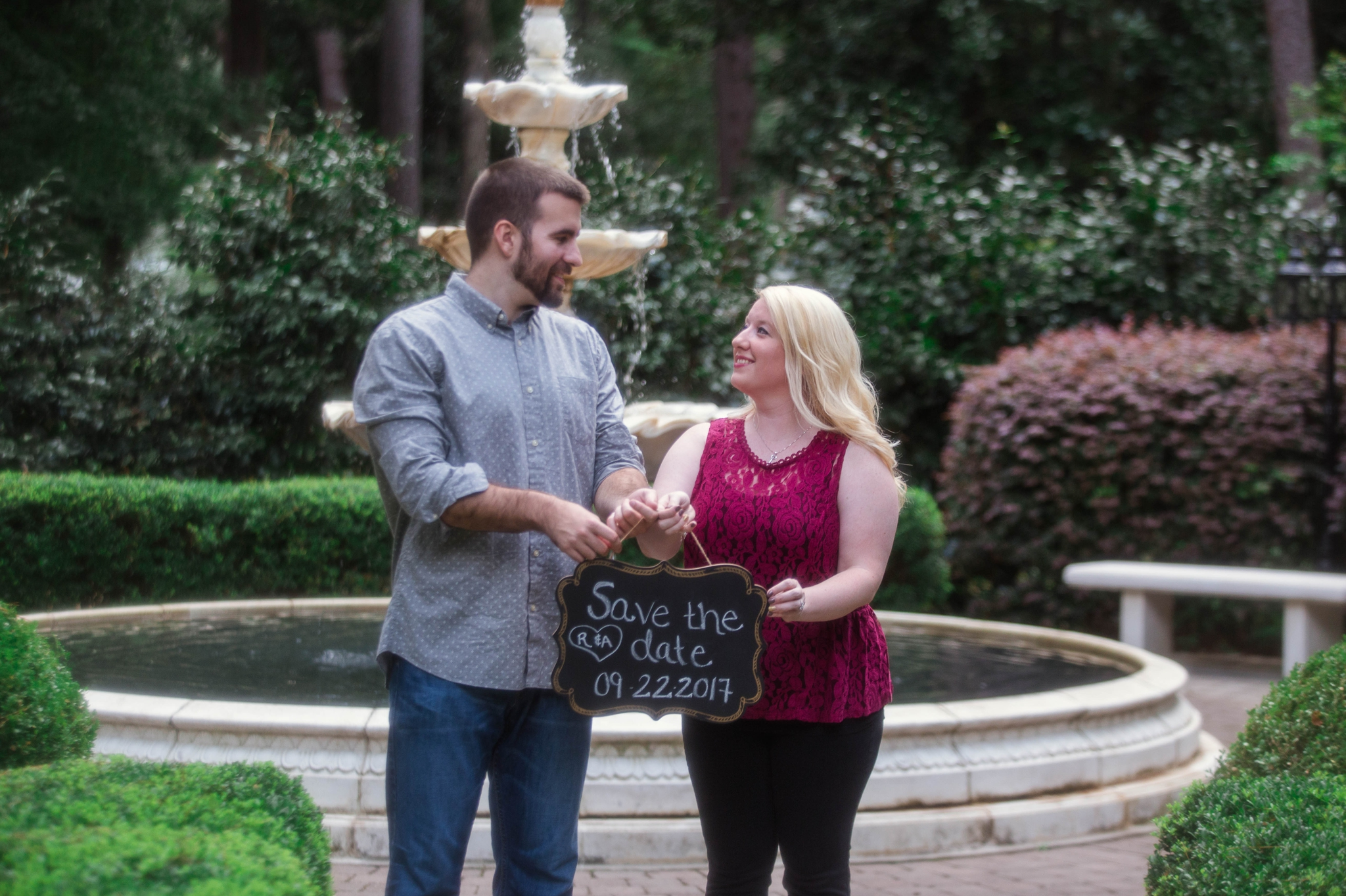 Engagement Photography at the Weymouth Center in Southern Pines North Carolina