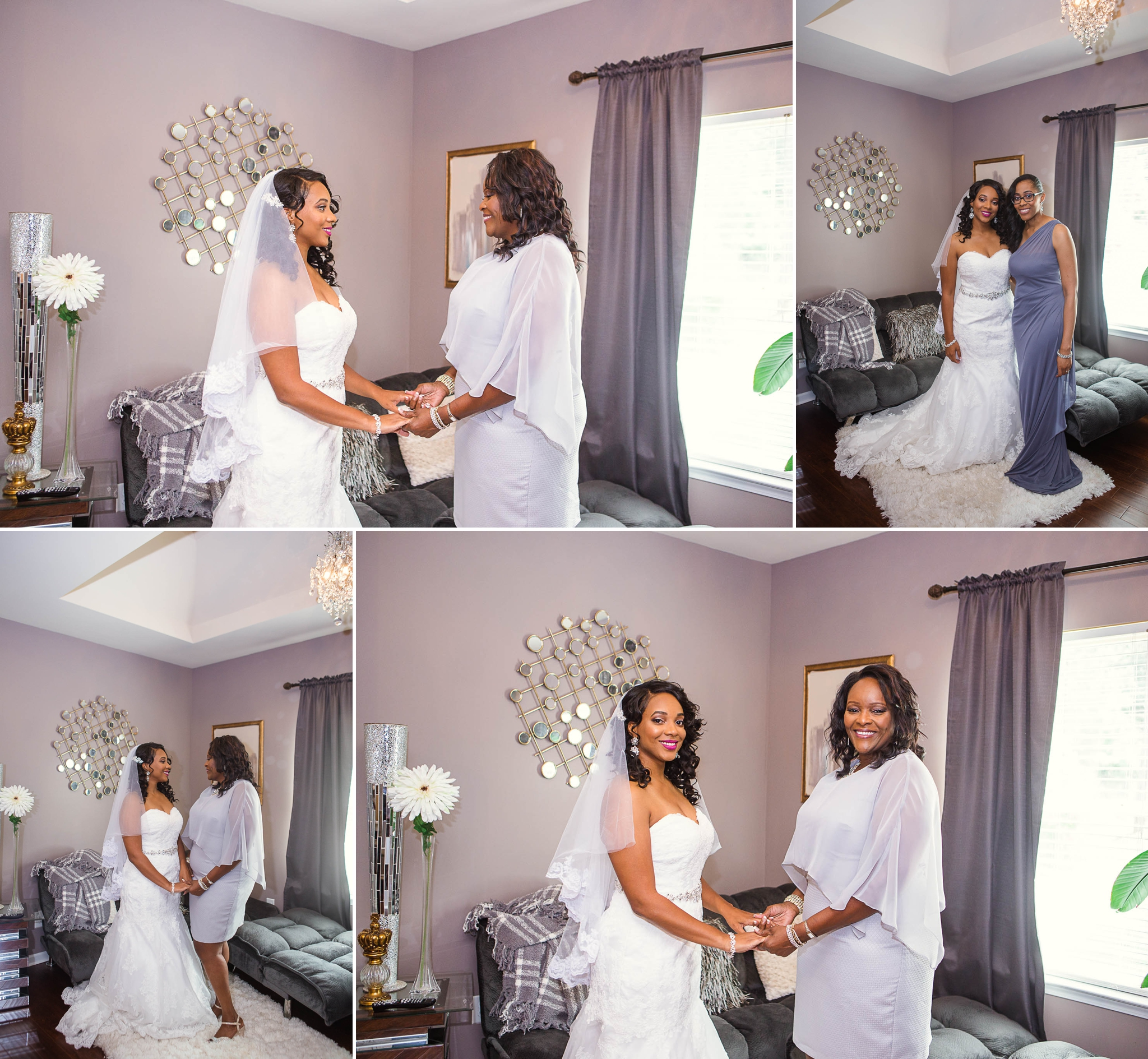 Bride getting ready for wedding in fayetteville north carolina