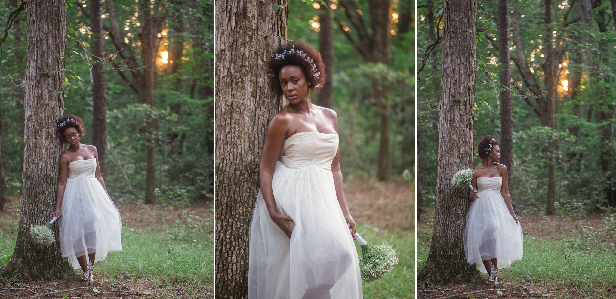 Natural Hair Bridal Session for Wedding in Fayetteville North Carolina
