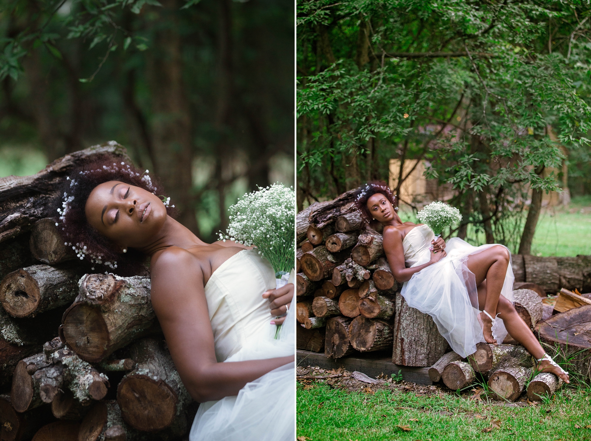 Wedding Photography for Bridal Session with Black natural hair bride