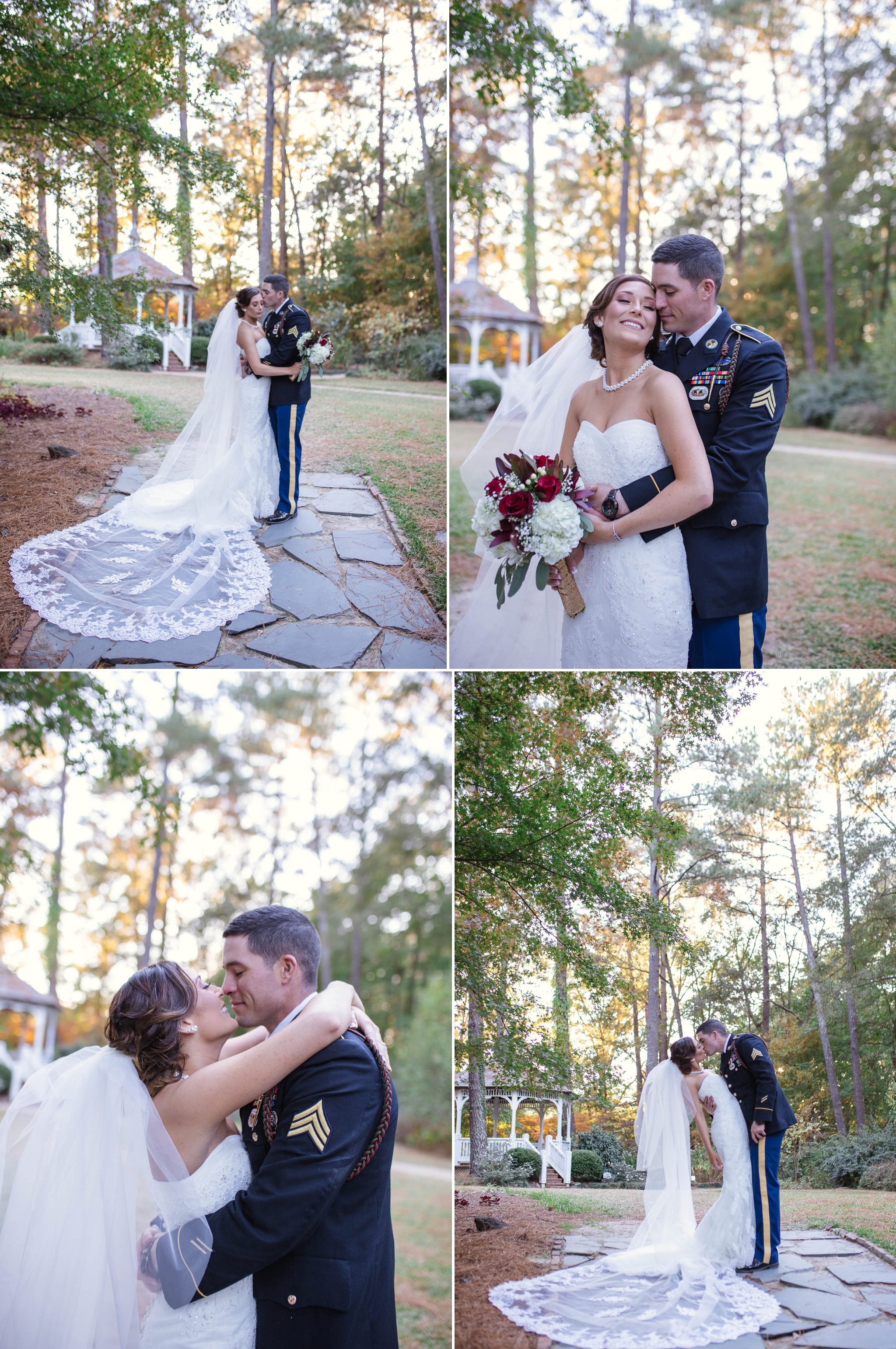 Wedding Photography at the Cape Fear Botanical Garden in Fayetteville North Carolina