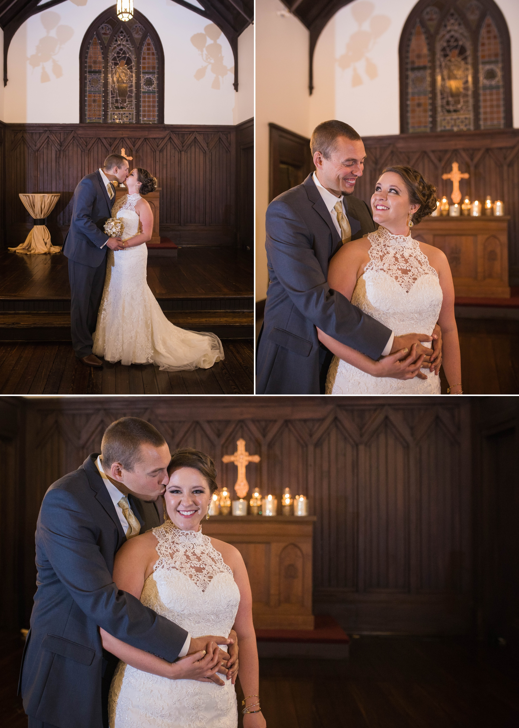 Ceremony at the All Saints Chapel in Raleigh North Carolina  Photographer