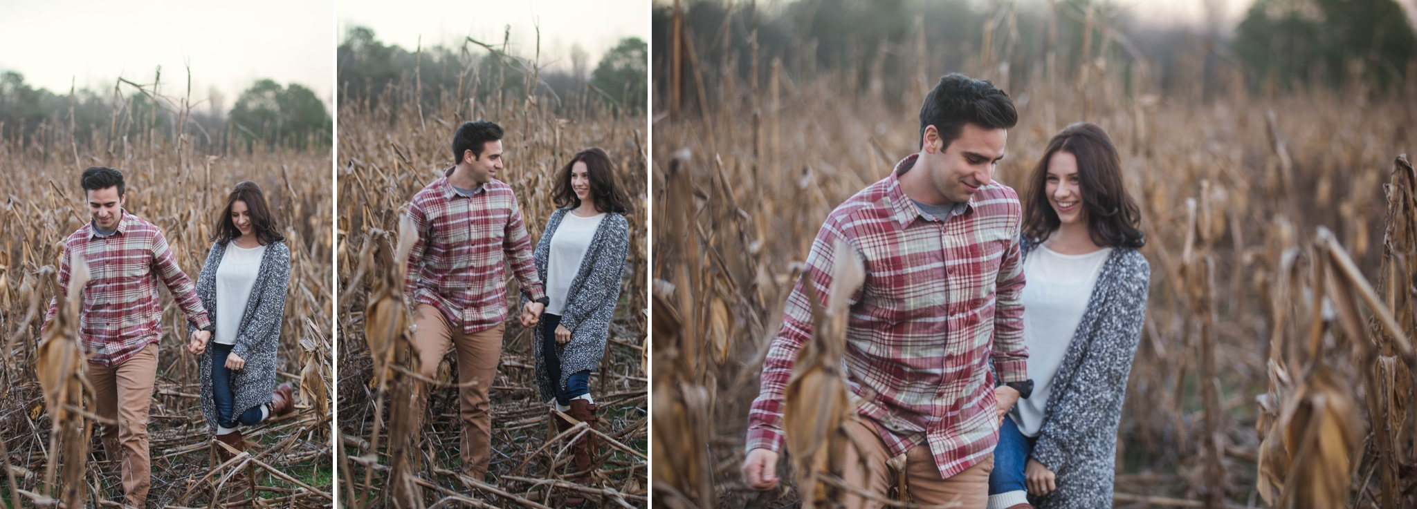 Fayetteville North Carolina Engagement Photographer - Rustic Cornfield Engagement Session - Mike and Jessica