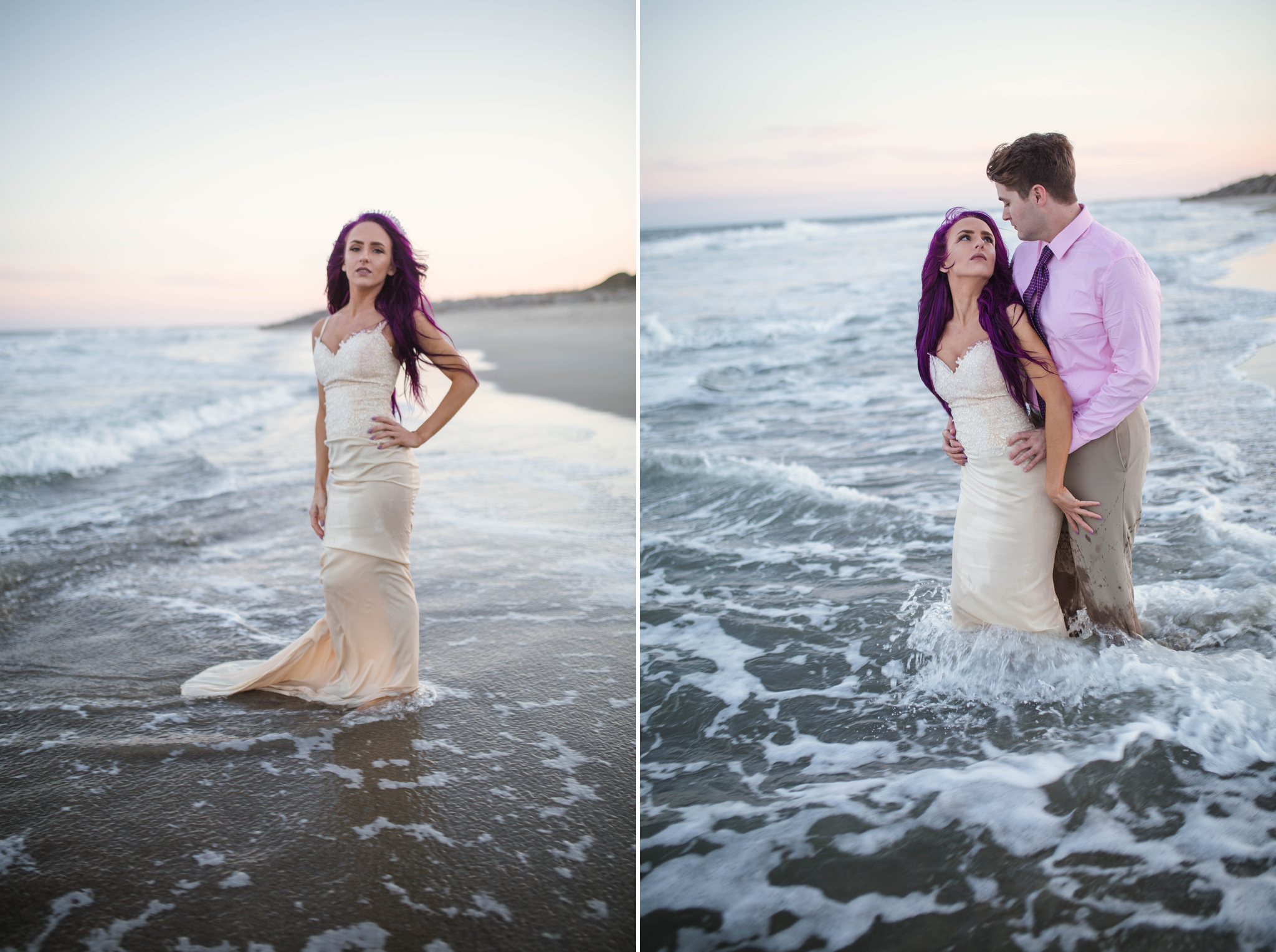 Kure Beach Wilmington North Carolina Wedding Photography - Mermaid inspired - Johanna Dye