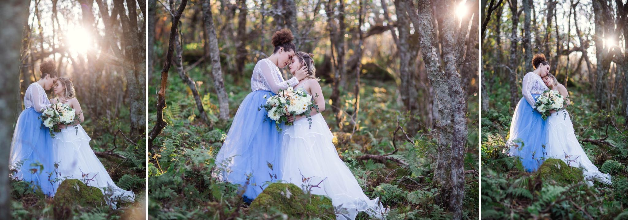 Same Sex Mountain Elopement at Craggy Gardens - Asheville, North Carolina Wedding Photographer - Johanna Dye