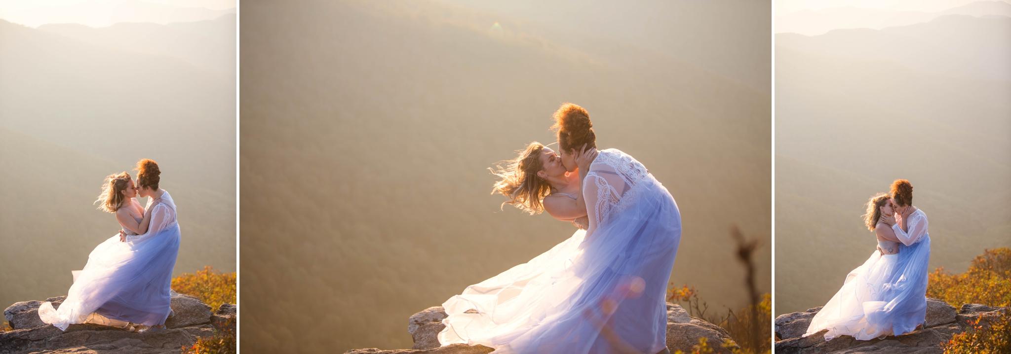 same sex mountain elopement photography at Craggy Gardens - Asheville North Carolina Wedding Photographer 12.jpg