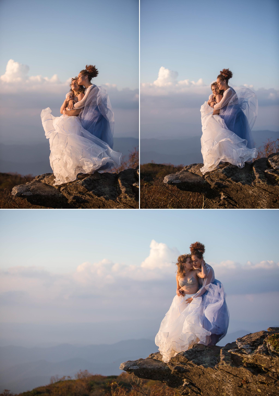 same sex mountain elopement photography at Craggy Gardens - Asheville North Carolina Wedding Photographer 10.jpg