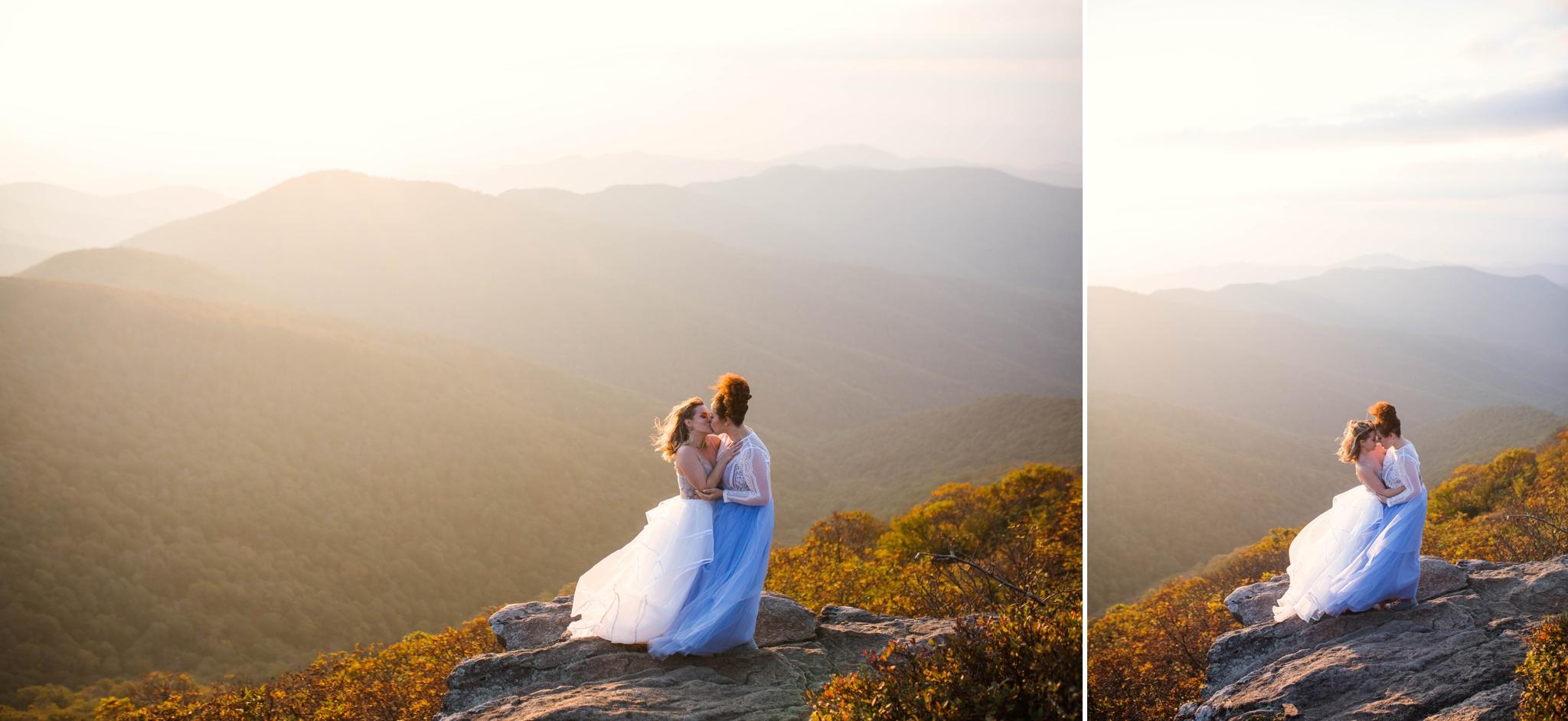 same sex mountain elopement photography at Craggy Gardens - Asheville North Carolina Wedding Photographer 13.jpg