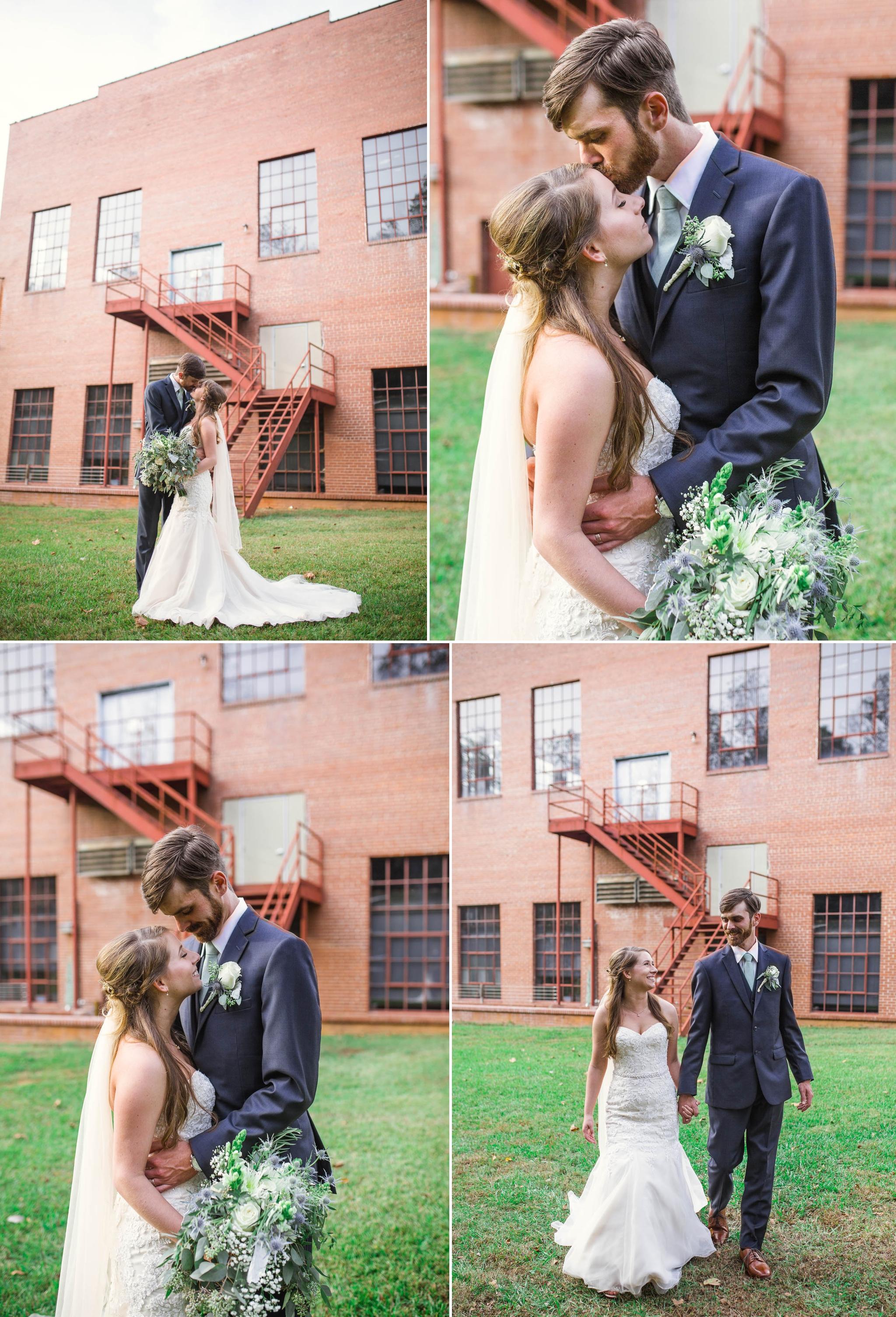 Outdoor Bride and Groom Portraits at Chatham Mills in Pittsboro North Carolina Wedding Photography - Johanna Dye - Meredith and Brandon