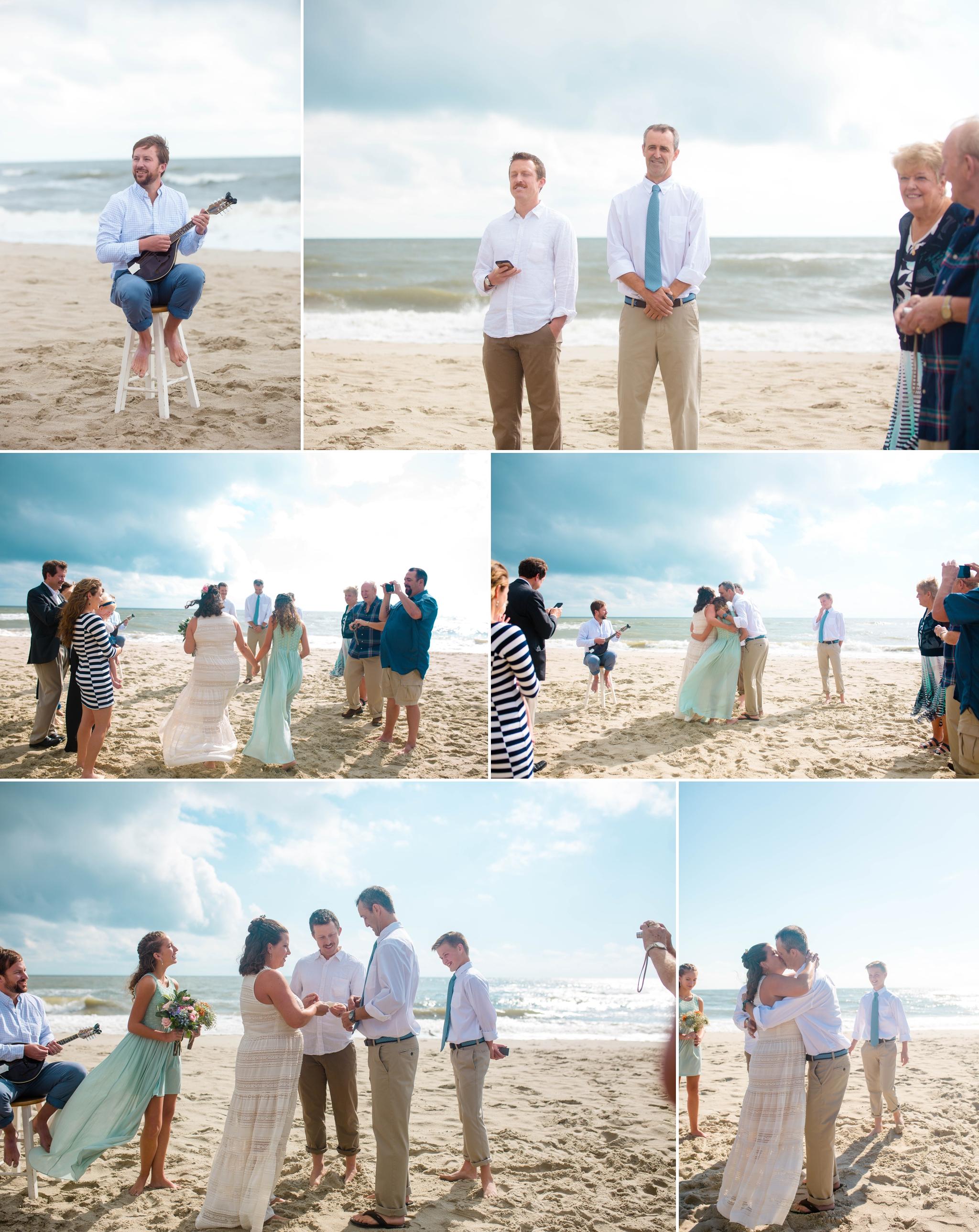 Beach Wedding Photography At Oak Island