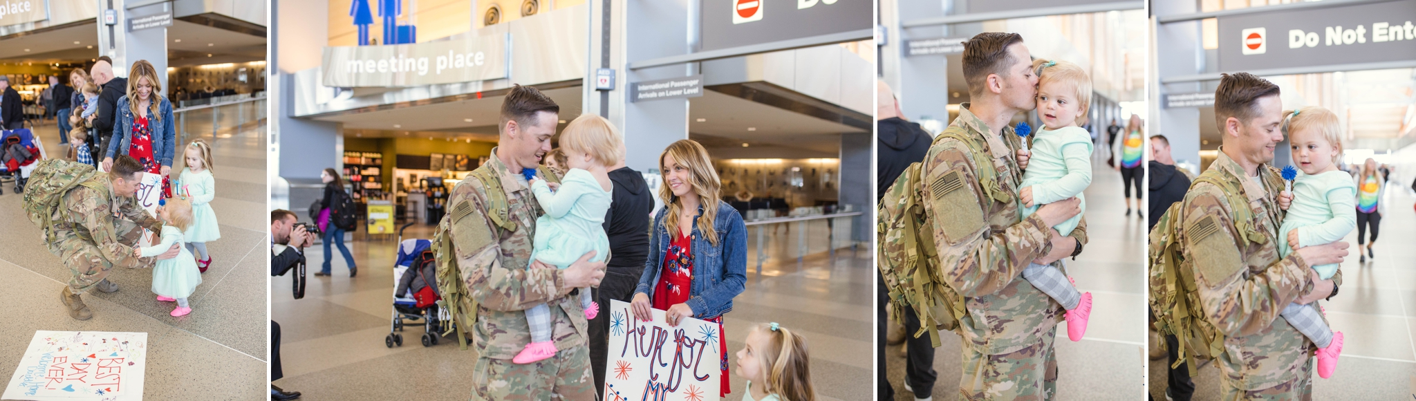 Military Homecoming Photography at Raleigh Durham International Airport RDU - Fort Bragg NC Photographer