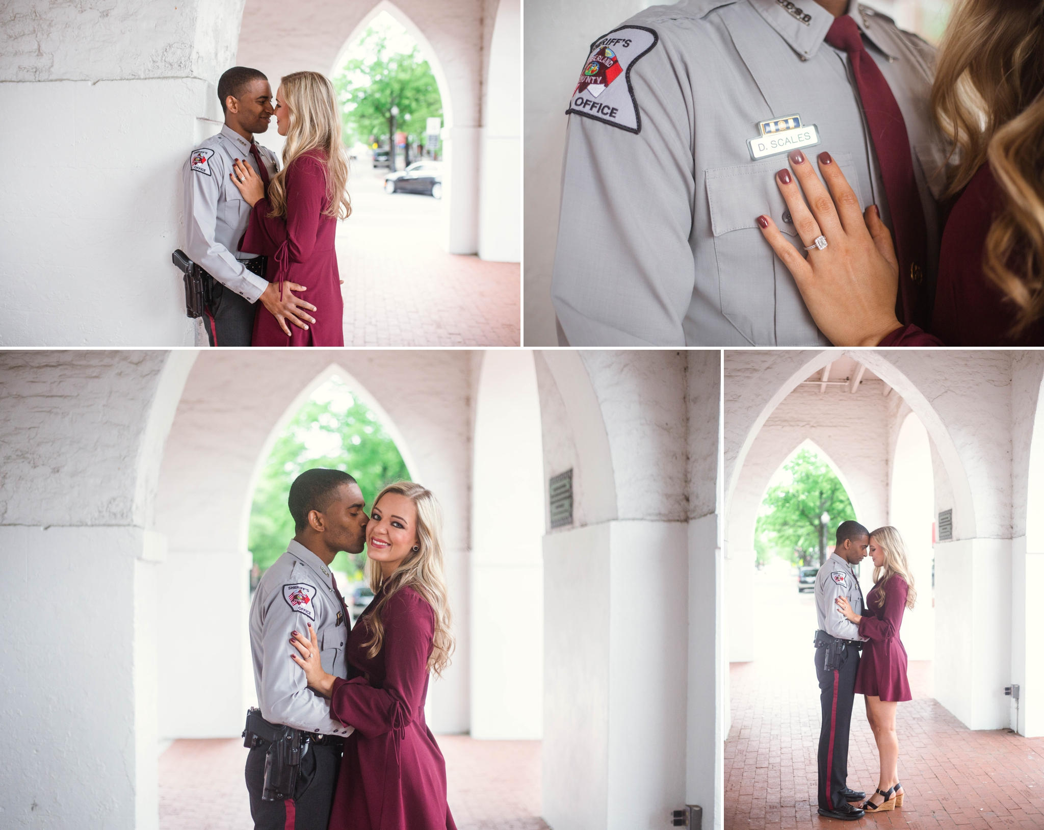 Engagement Photography in Downtown Fayetteville North Carolina