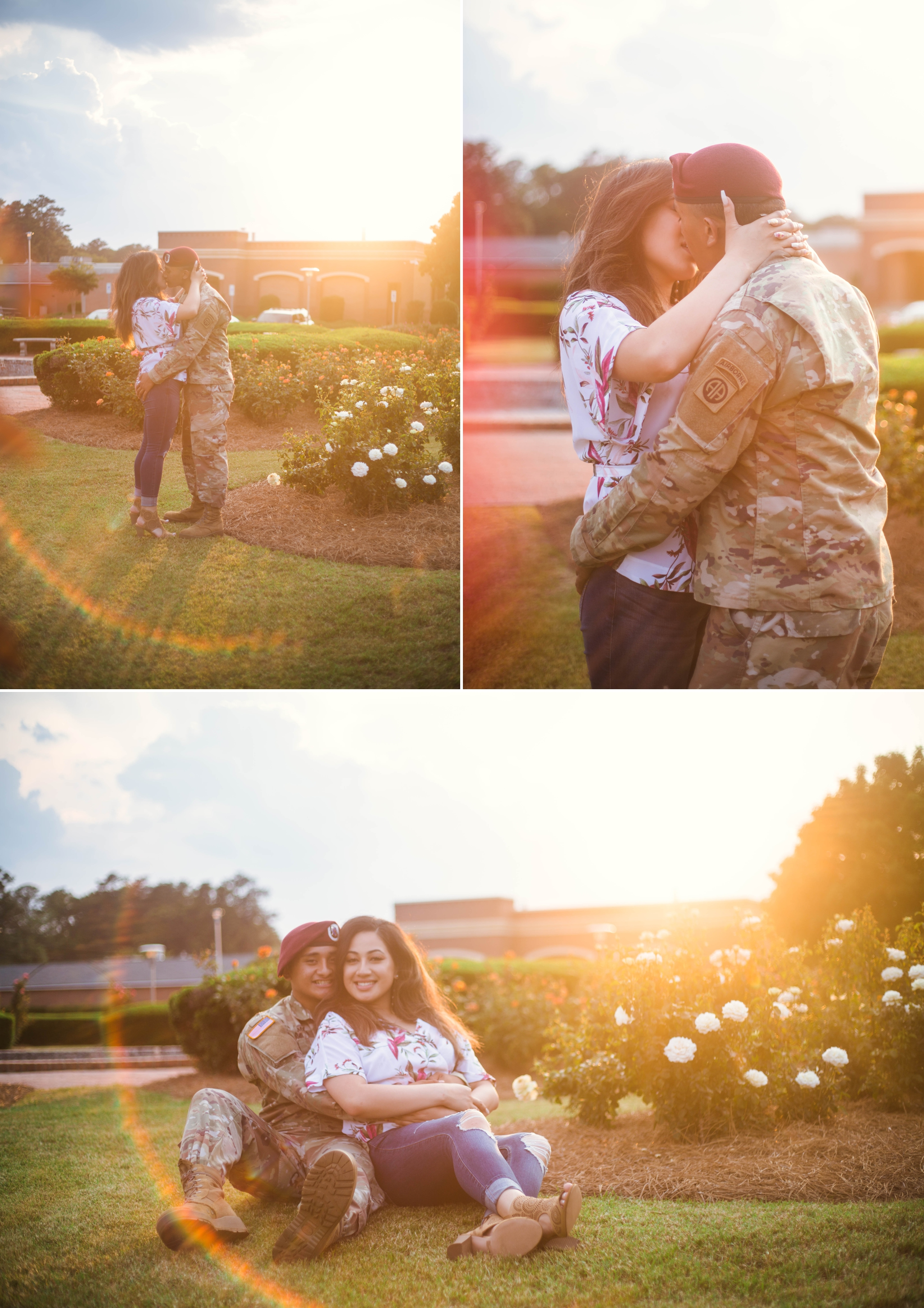 Couples Photography Session at the FTCC Rose Garden - Fayetteville, North Carolina Engagement Photographer