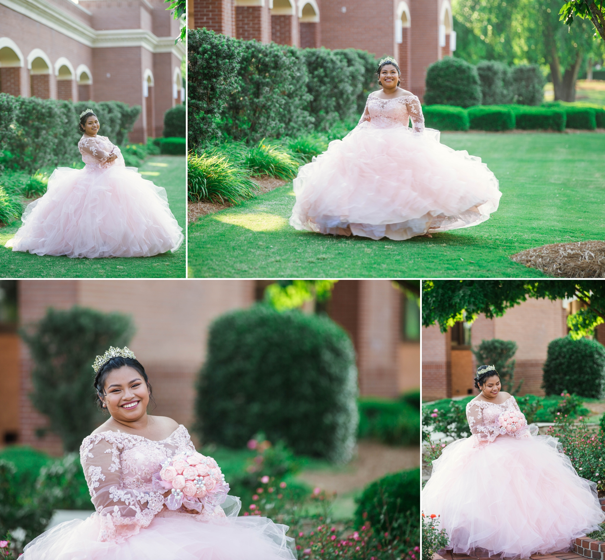 Sweet 16 Photography Session at the FTCC Rose Garden - Fayetteville NC Senior Photographer