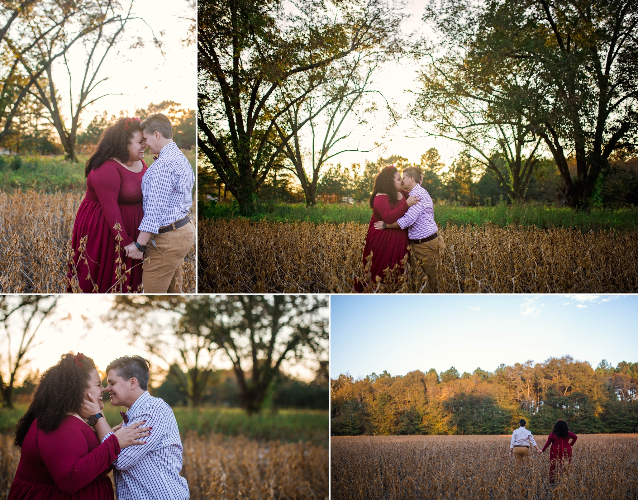 Mercedes + Nicole - Same Sex Engagement Photography Session in Fayetteville, NC - Gay Wedding Photographer in North Carolina