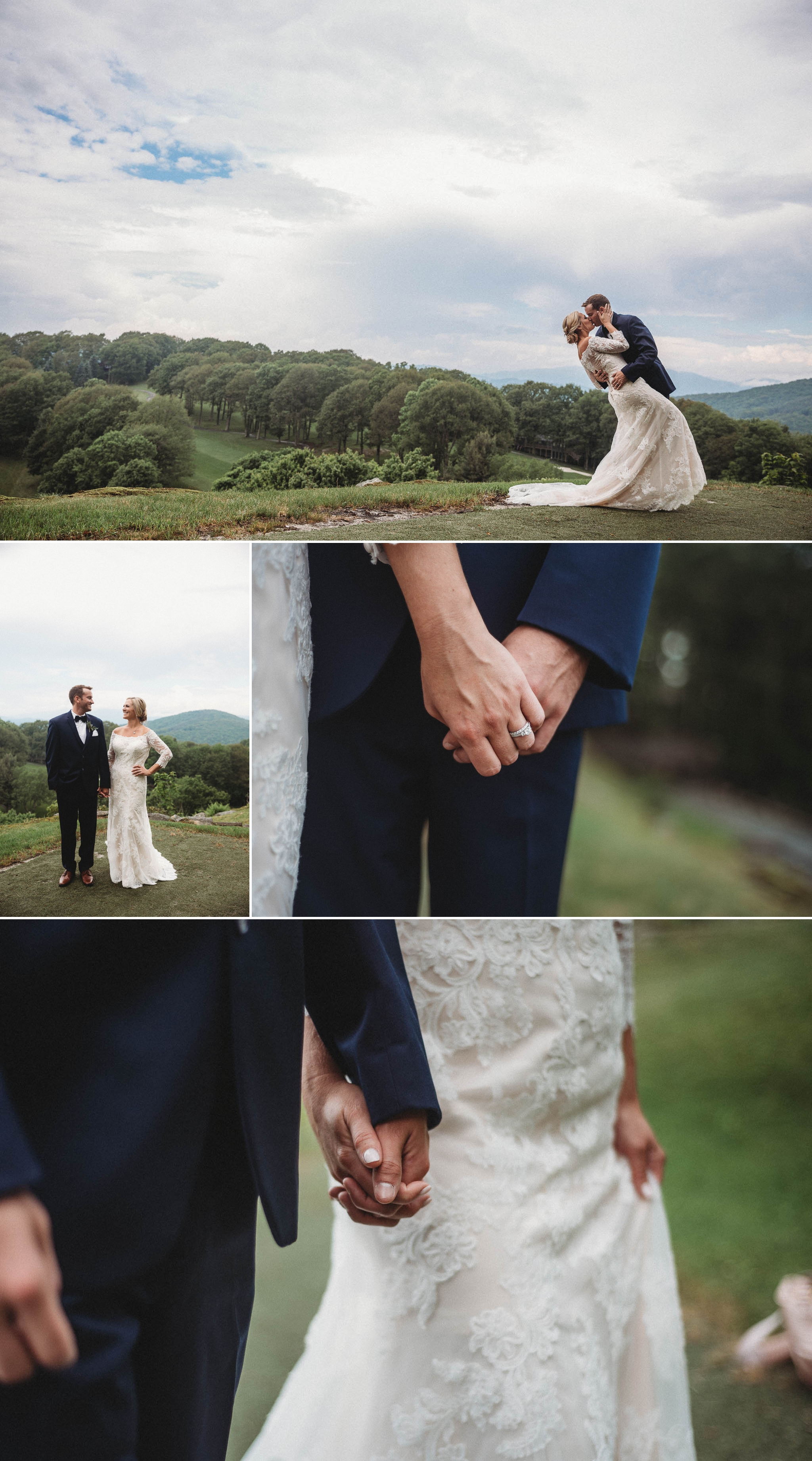 Wedding Portraits - Beech Mountain Club Wedding - Asheville North Carolina Photographer