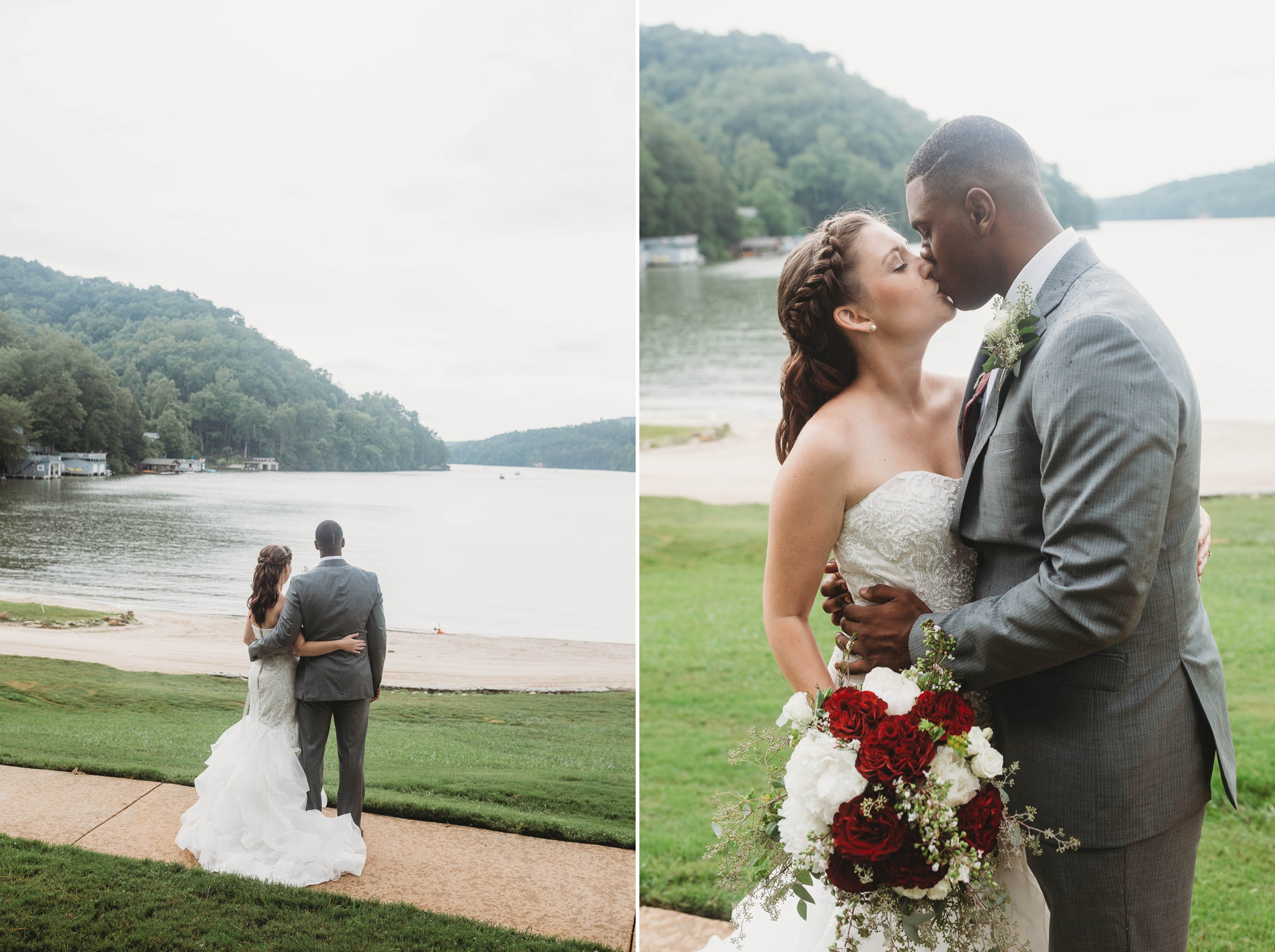 Bride and Groom Portraits - Rachel + Jamison - Rumbling Bald Resort, Lake Lure, NC - Asheville, North Carolina Wedding Photographer