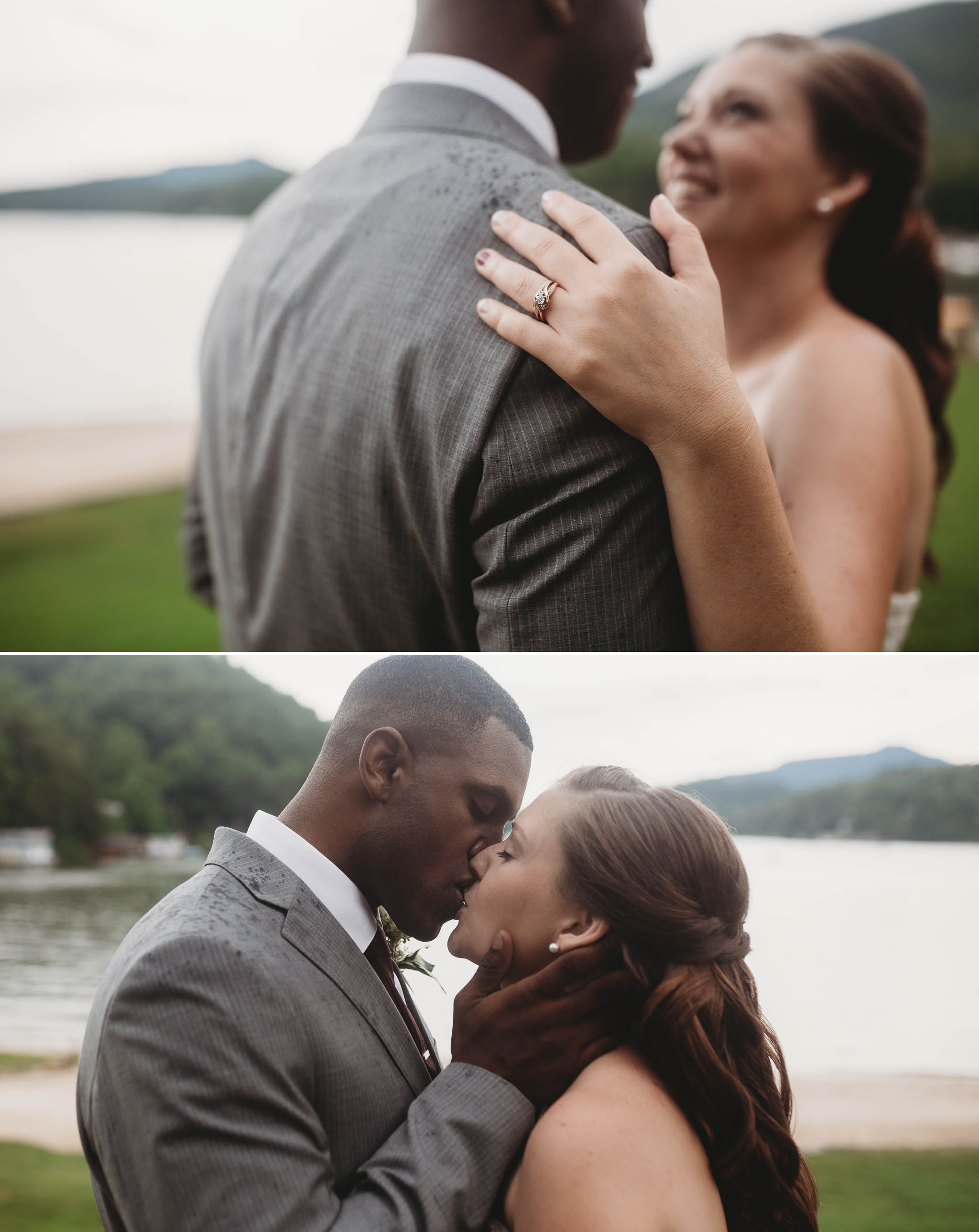 Bride and Groom Portraits Rachel + Jamison - Rumbling Bald Resort, Lake Lure, NC - Asheville, North Carolina Wedding Photographer