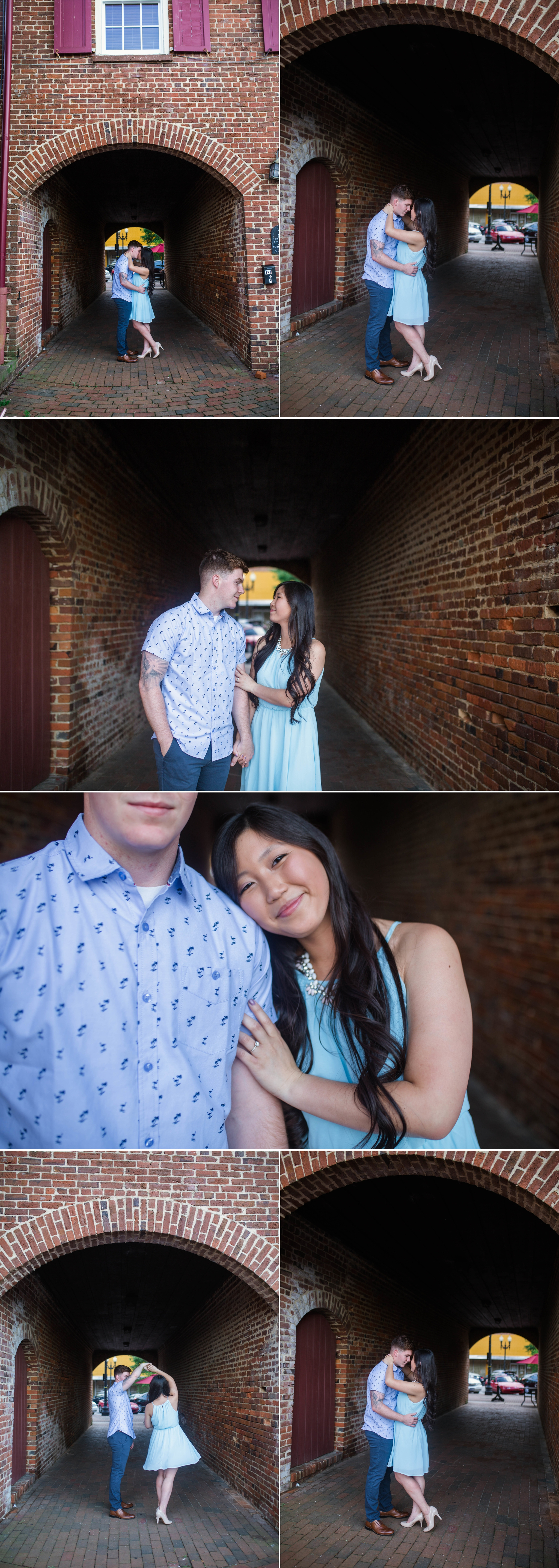 Leanne + Blake - Engagement Photography Session in Downtown Fayetteville, North Carolina