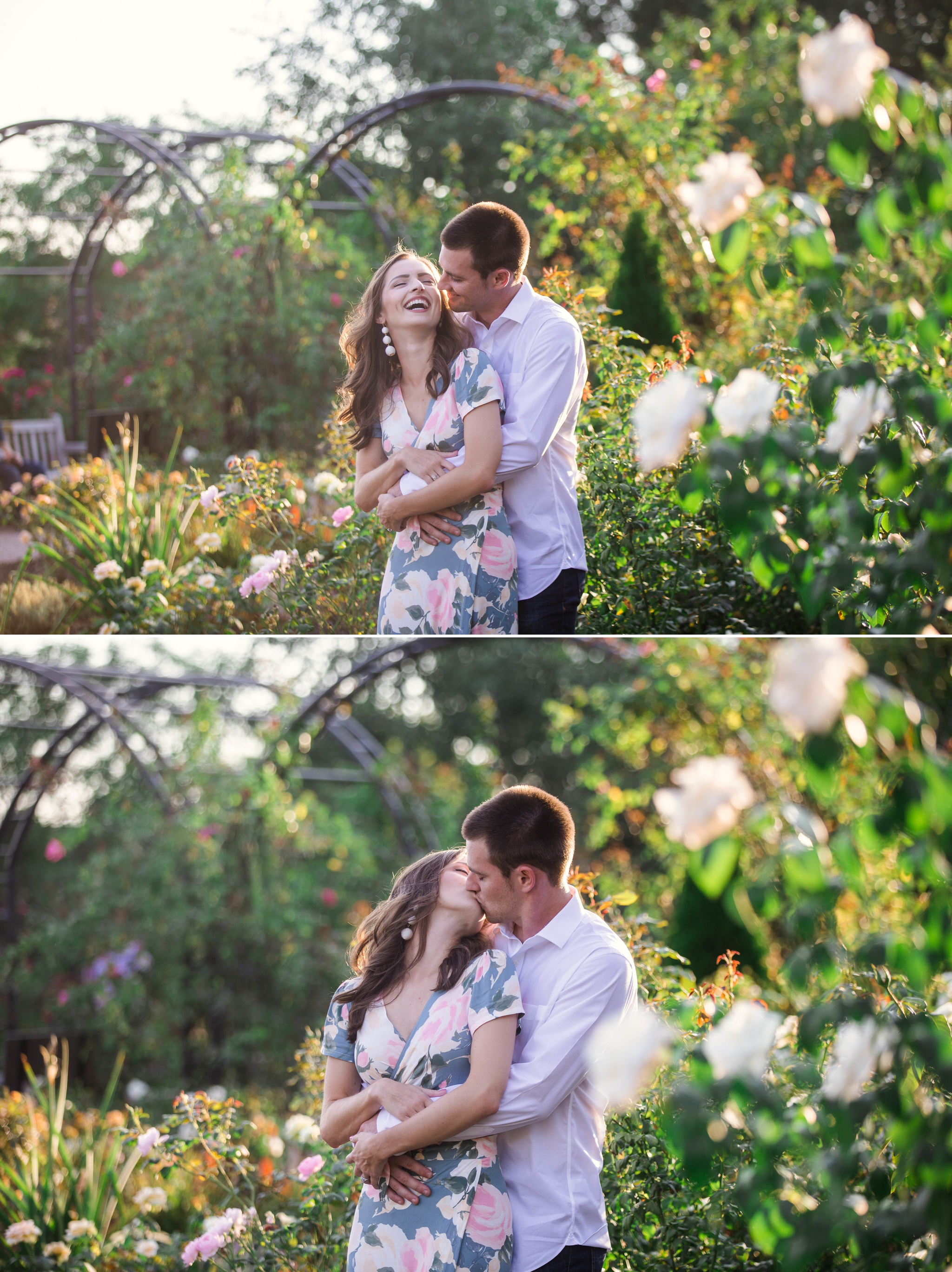 Paige + Tyler - Engagement Photography Session at the JC Raulston Arboretum - Raleigh Wedding Photographer 3.jpg