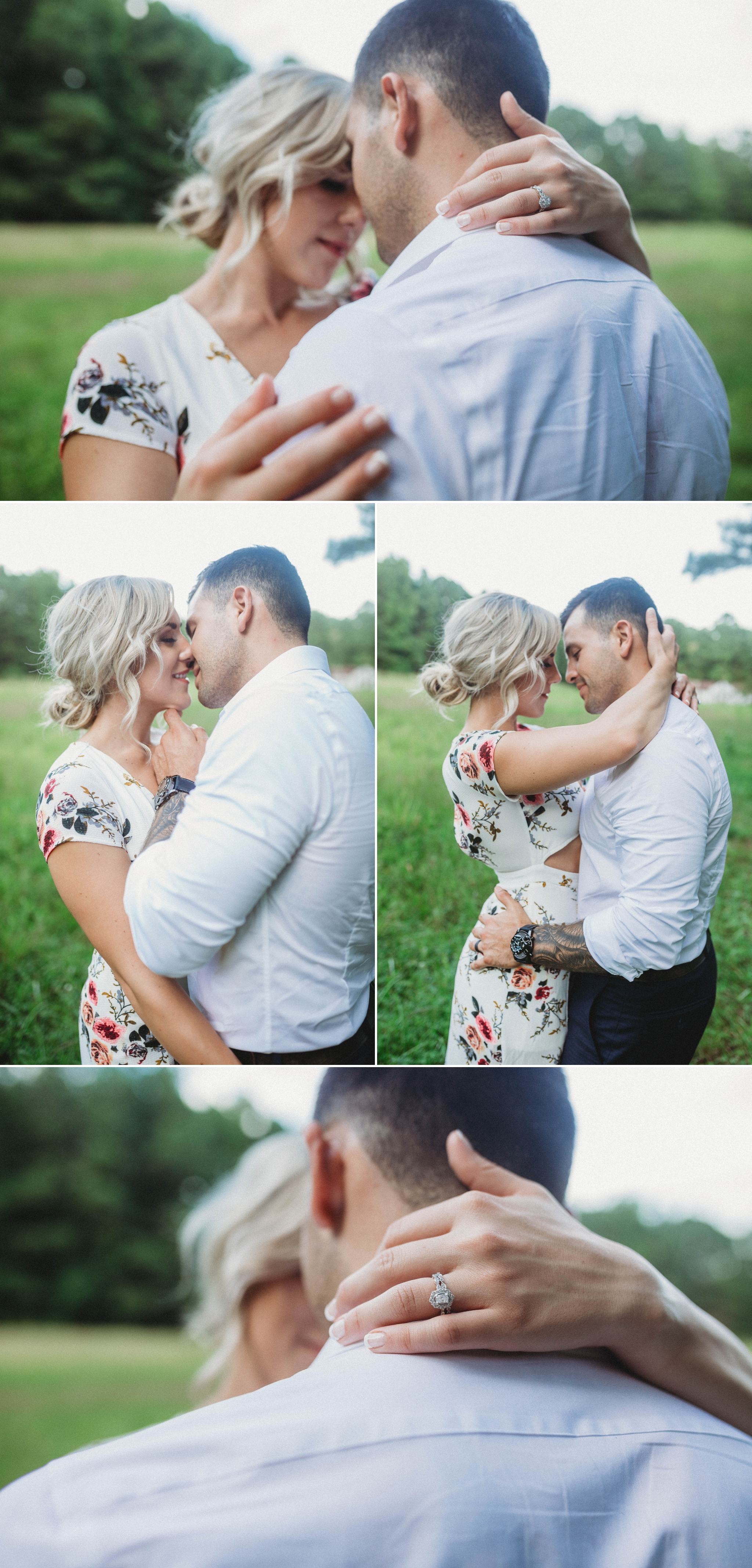 Cassie + Jesse - Engagement Photography Session in a field - Fayetteville North Carolina Wedding Photographer 6.jpg