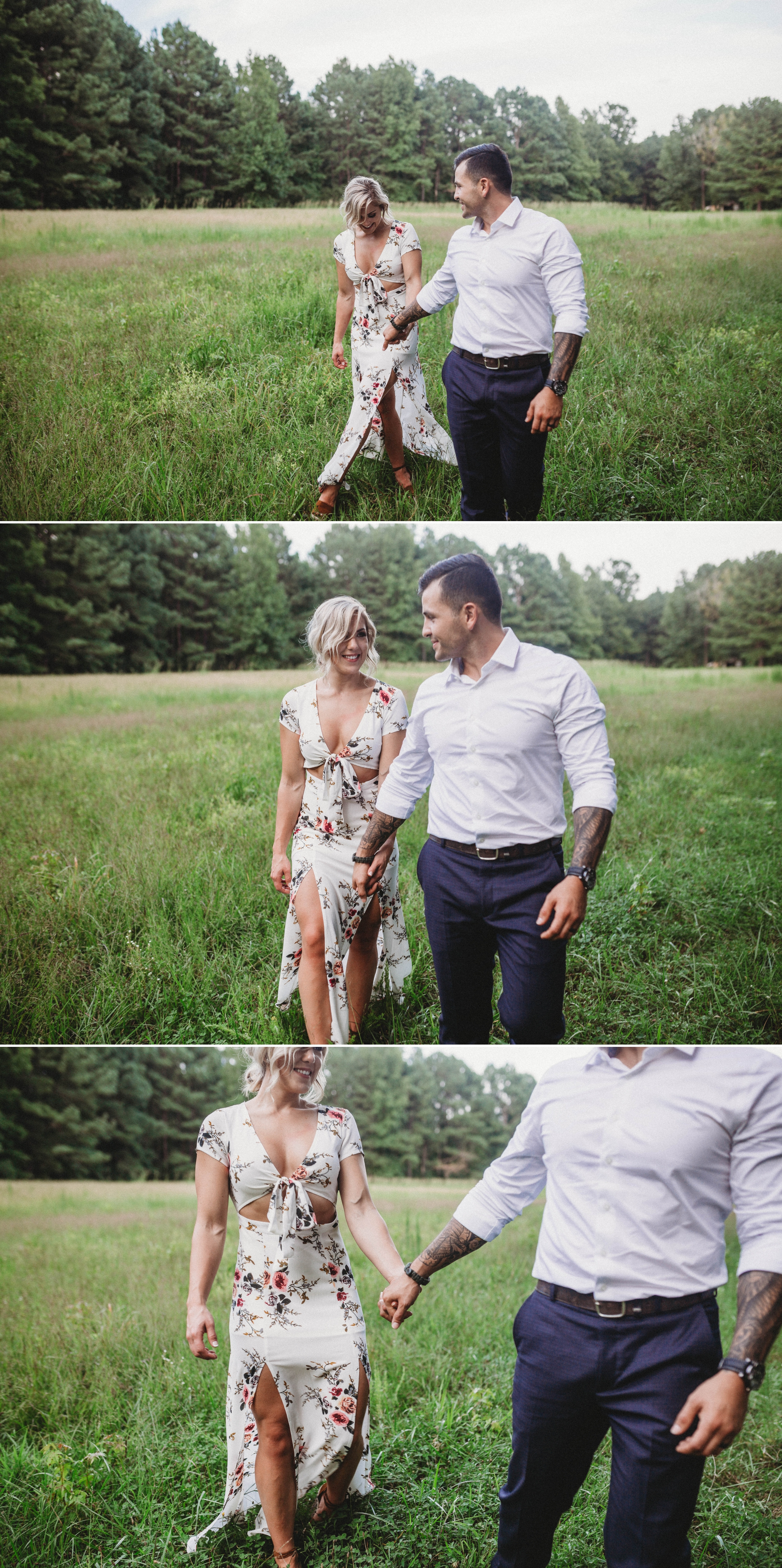 Cassie + Jesse - Engagement Photography Session in a field - Fayetteville North Carolina Wedding Photographer 8.jpg