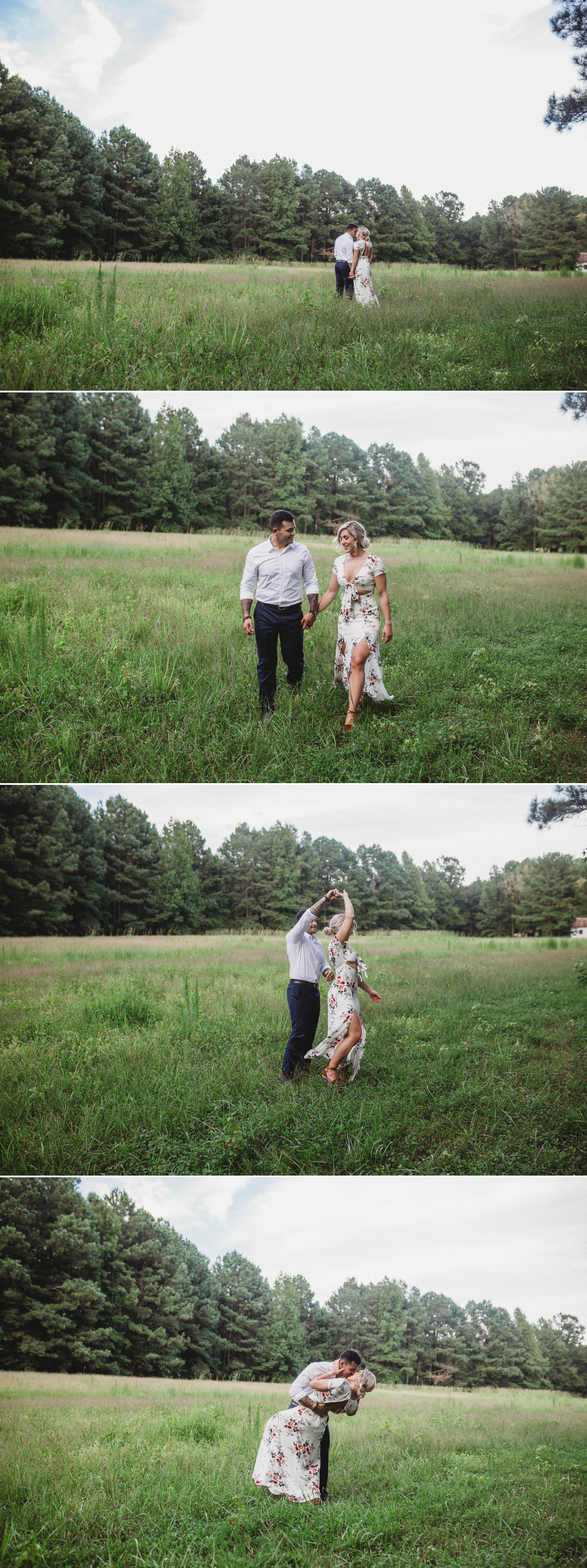 Cassie + Jesse - Engagement Photography Session in a field - Fayetteville North Carolina Wedding Photographer 7.jpg