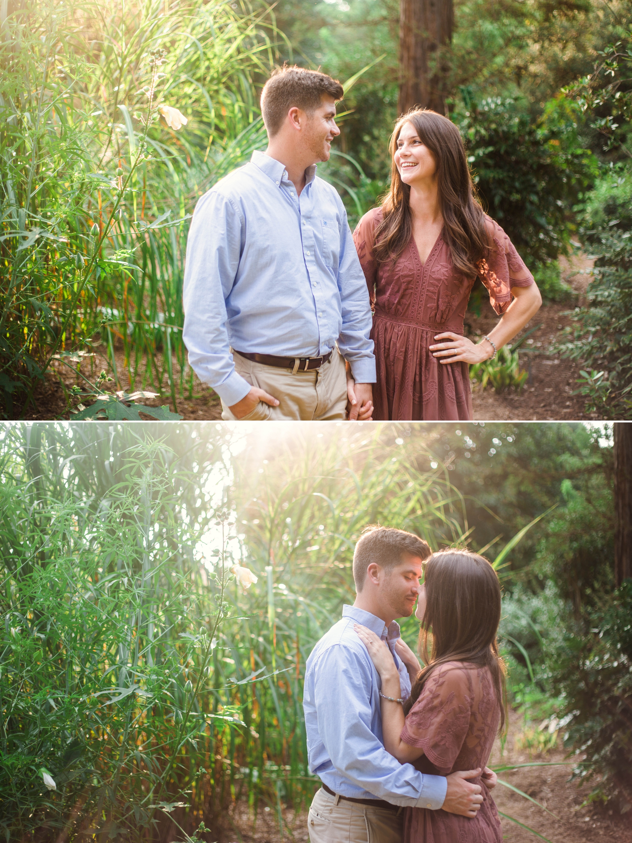 Golden Hour Engagement Aryn + Tyler -  Photography Session at the JC Raulston Arboretum - Raleigh Wedding Photographer