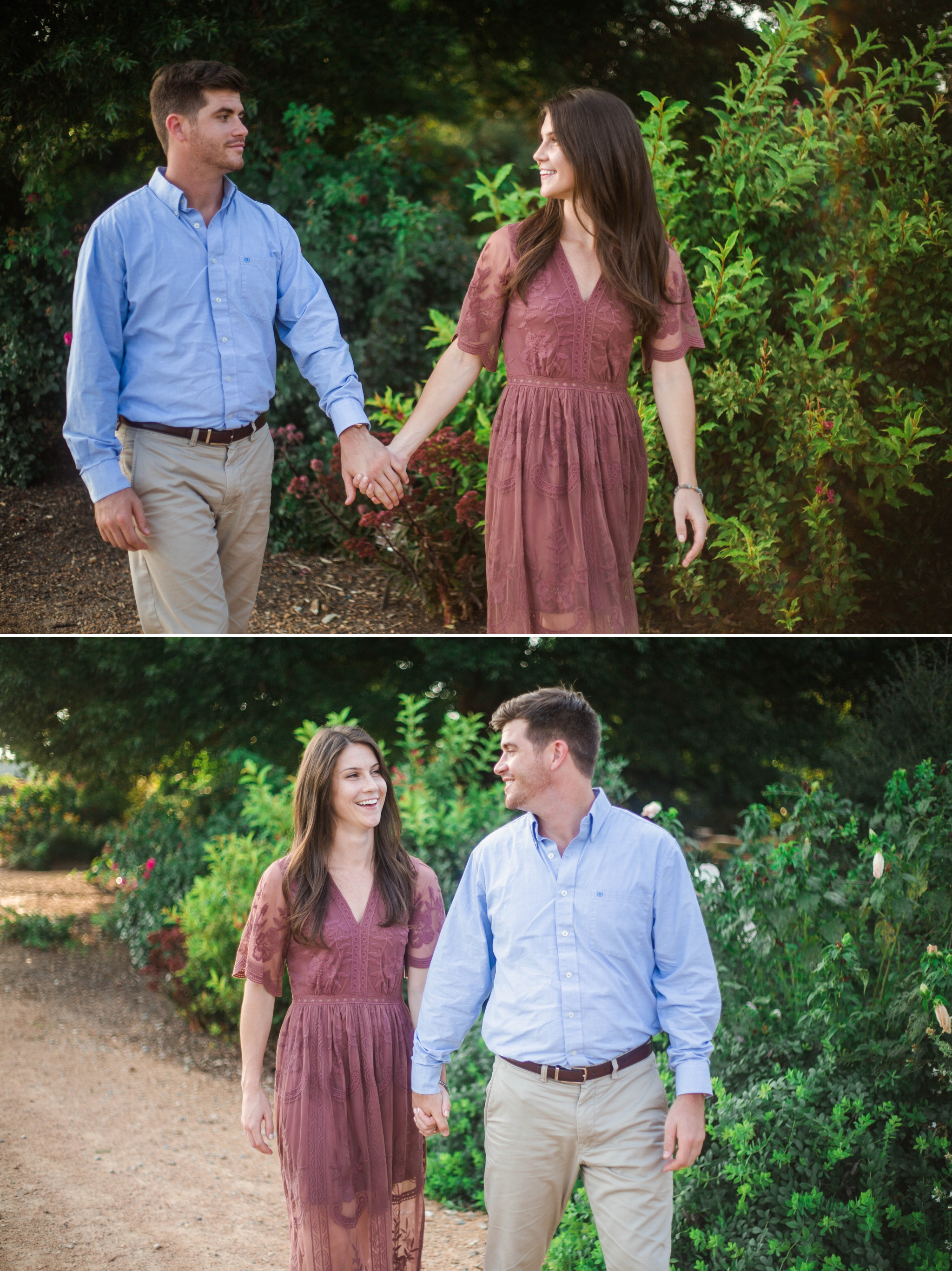 Aryn + Tyler -  Photography Session at the JC Raulston Arboretum - Raleigh Wedding Photographer