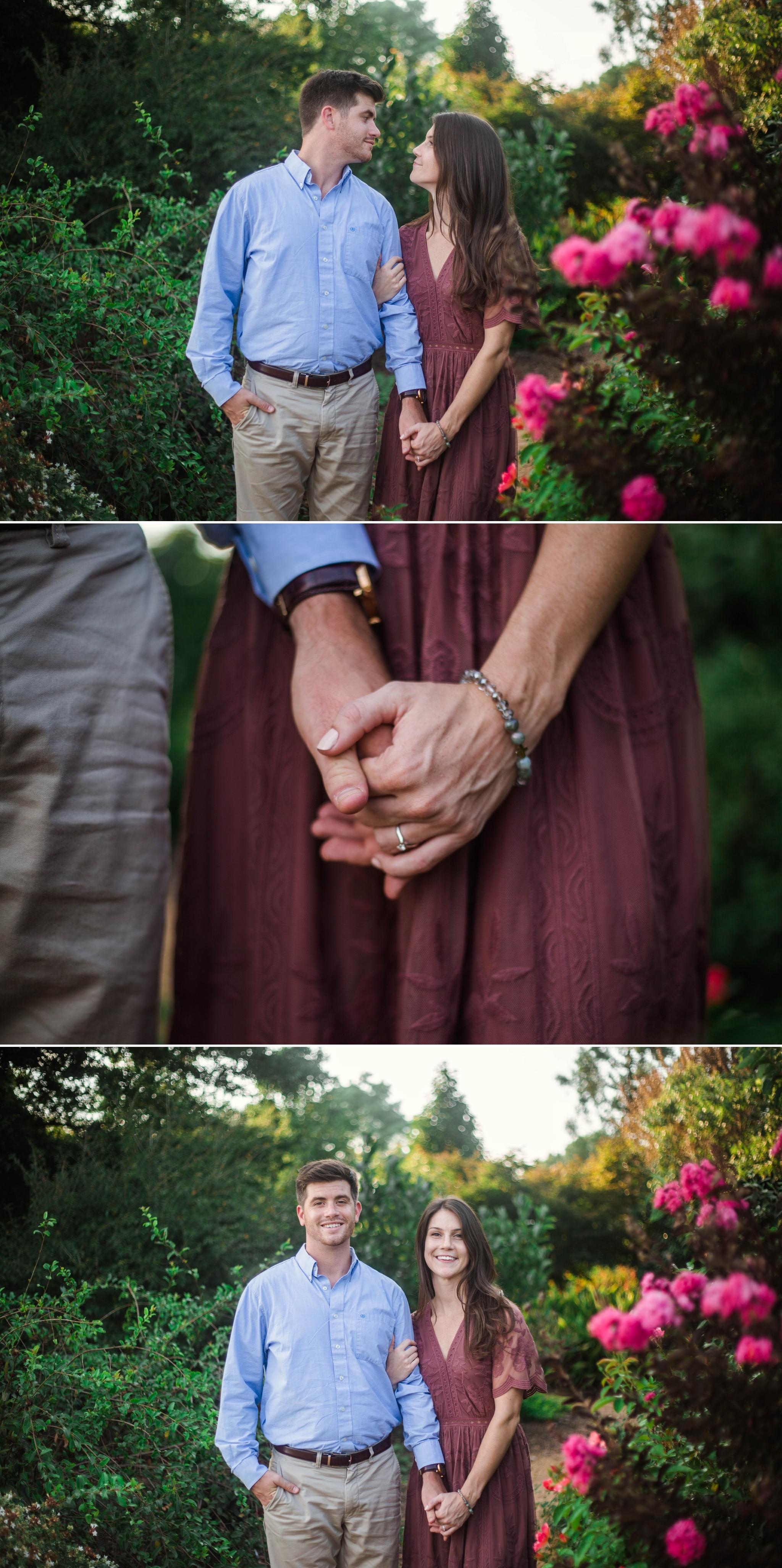 Garden Engagement - Aryn + Tyler -  Photography Session at the JC Raulston Arboretum - Raleigh Wedding Photographer