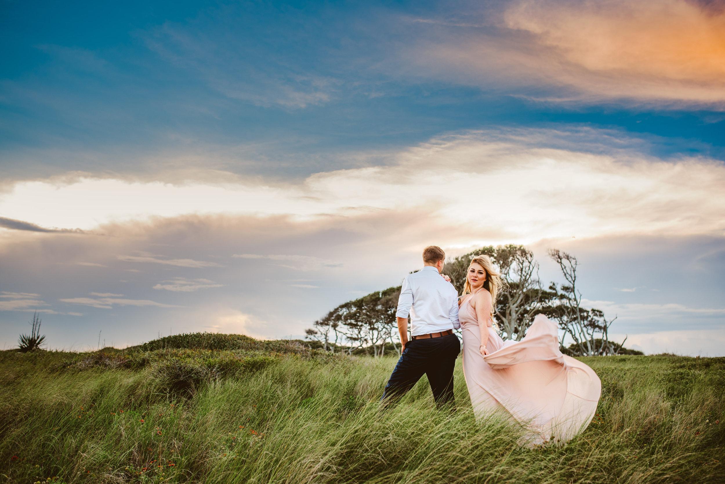 Matt + Johanna - Beach Engagement Photography at Fort Fisher, North Carolina